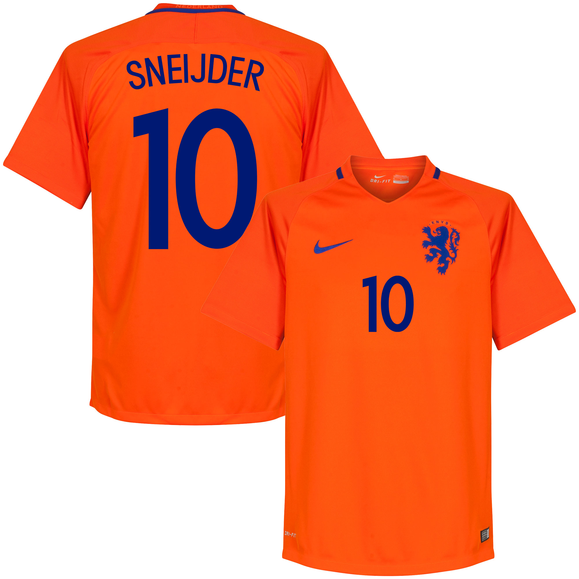 Holland Home Sneijder Jersey 2016 / 2017 (Fan Style Printing) - M