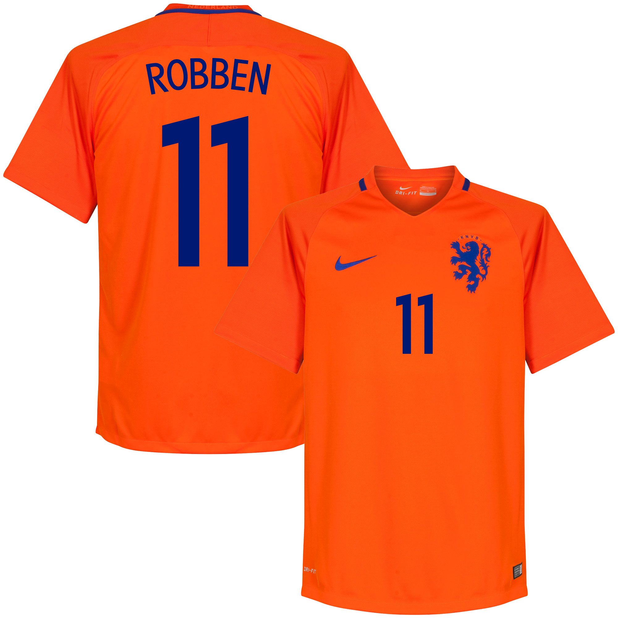 Holland Home Robben Jersey 2016 / 2017 (Fan Style Printing) - M