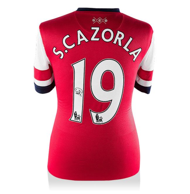 Santi Cazorla Signed Arsenal 12-14 Home Shirt (Back Signed)