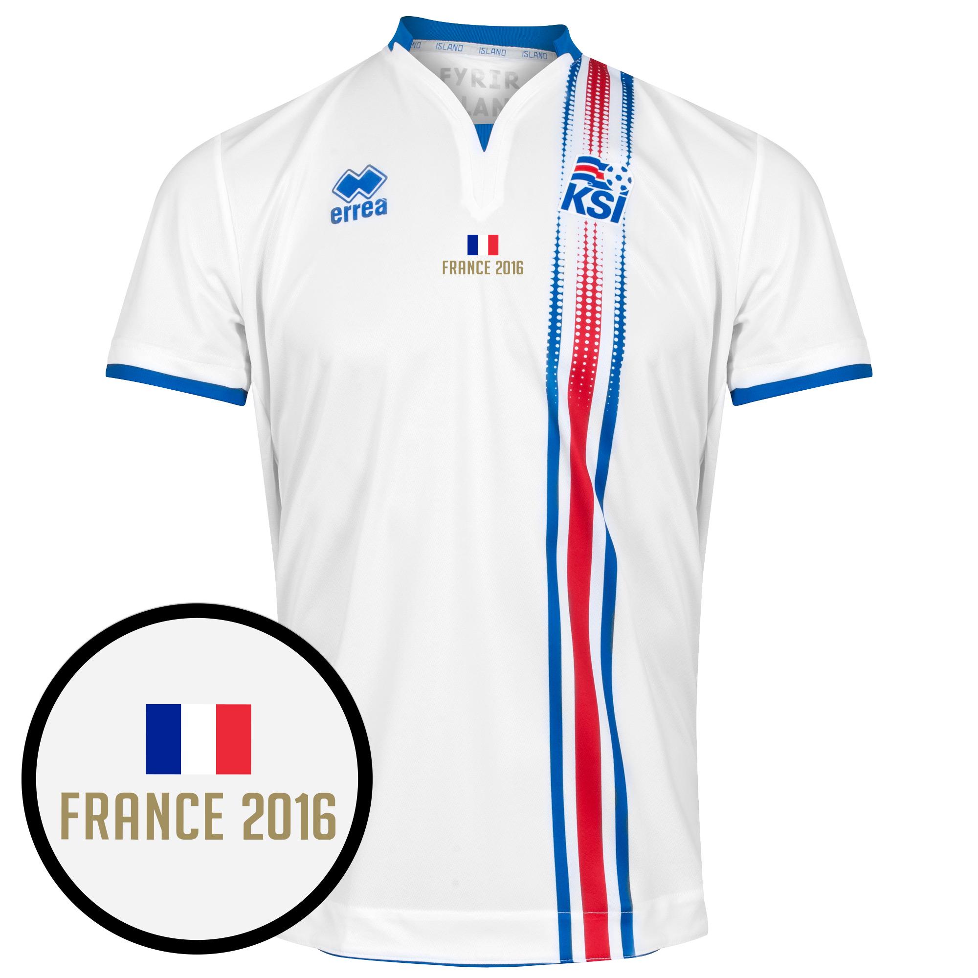 Iceland Away Shirt incl Euro '16 Transfer - L