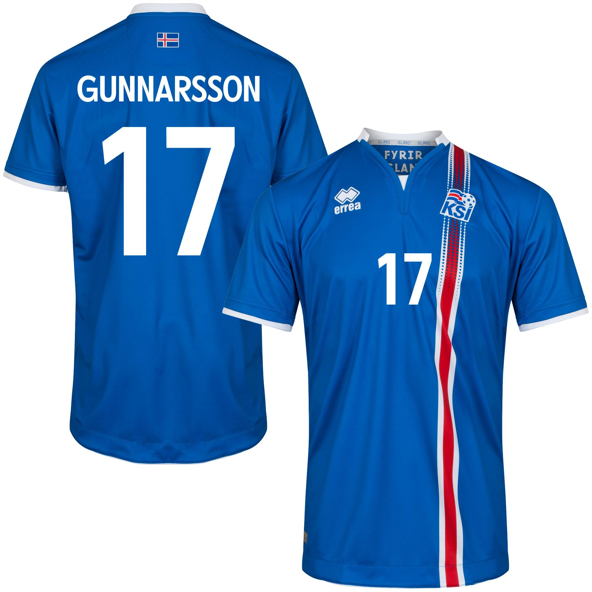Iceland Home Gunnarsson 17 Shirt 2016 2017