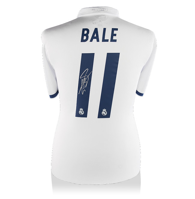 Gareth Bale Back-Signed Real Madrid Home Jersey 2016 / 2017 (Official Printing) - OS