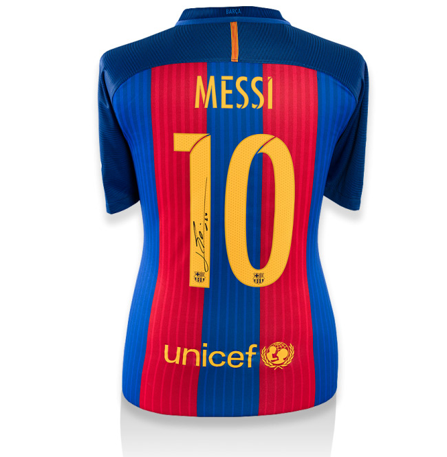 Lionel Messi Back-Signed Barcelona Home Jersey 2016 / 2017 (Official Printing) - OS