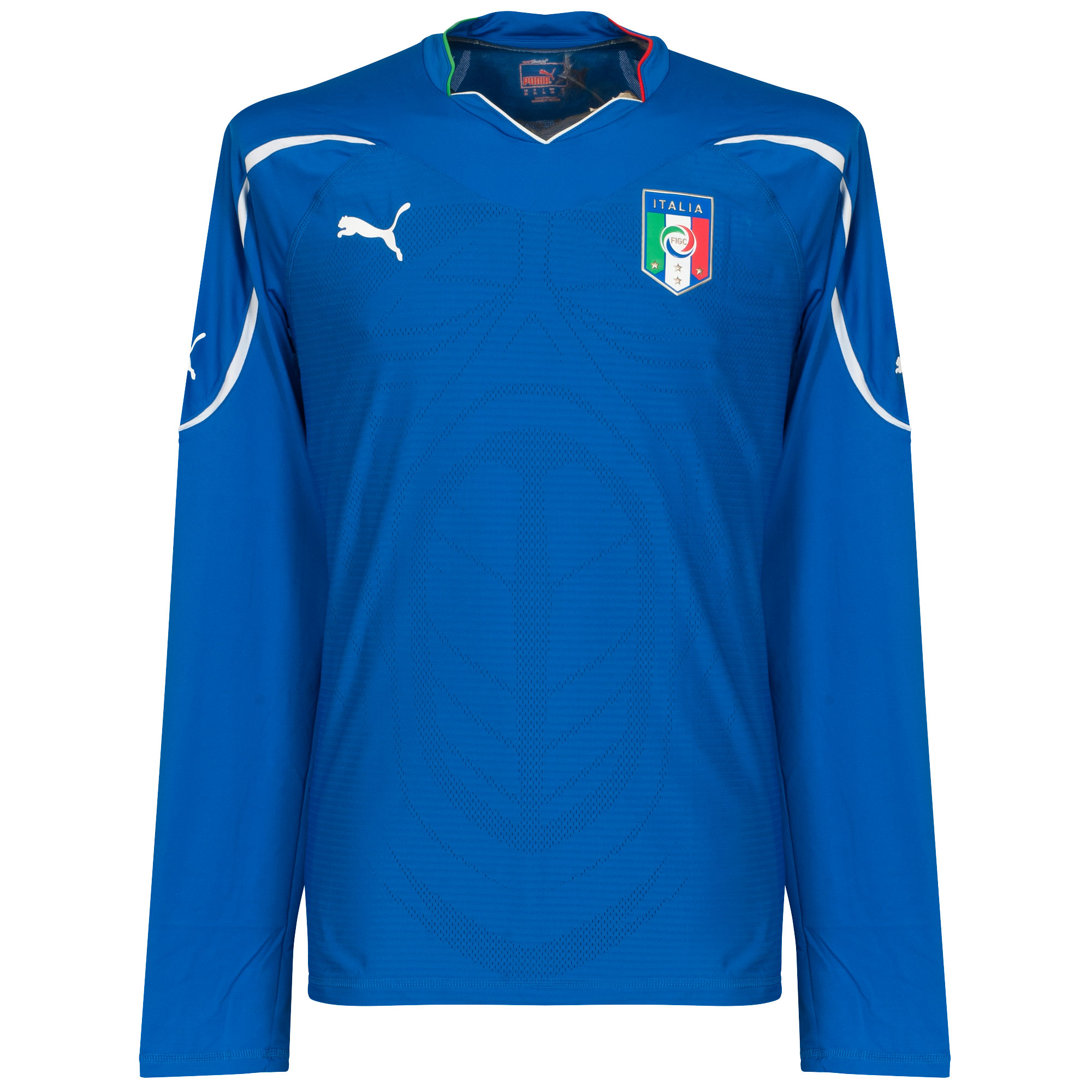 Italy Home long sleeve Player Issue Shirt 2010 2011 - XL