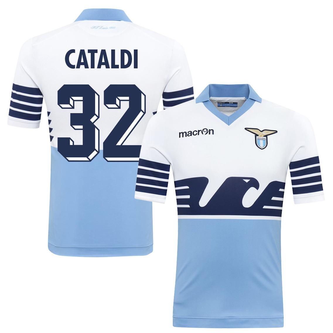 2015 Lazio 115 Year Cataldi Jersey (Fan Style Printing) - M