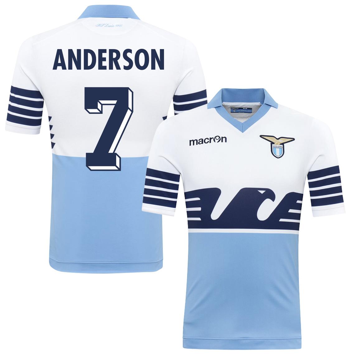 2015 Lazio 115 Year Anderson Jersey (Fan Style Printing) - M