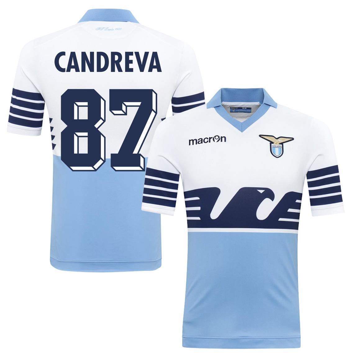 2015 Lazio 115 Year Candreva Jersey (Fan Style Printing) - M