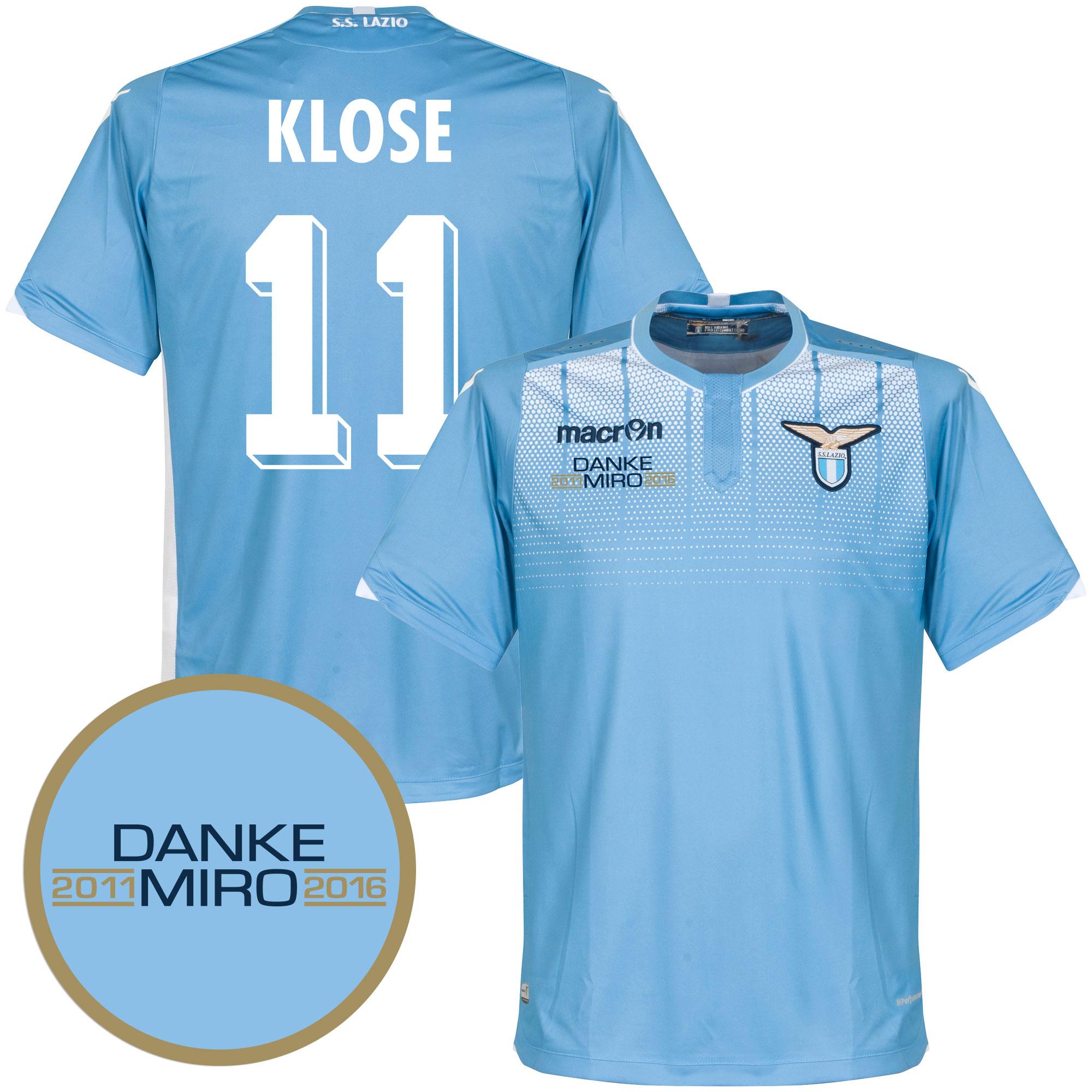 Lazio Home Klose Jersey 2015 / 2016 (Fan Style Printing) - XXL