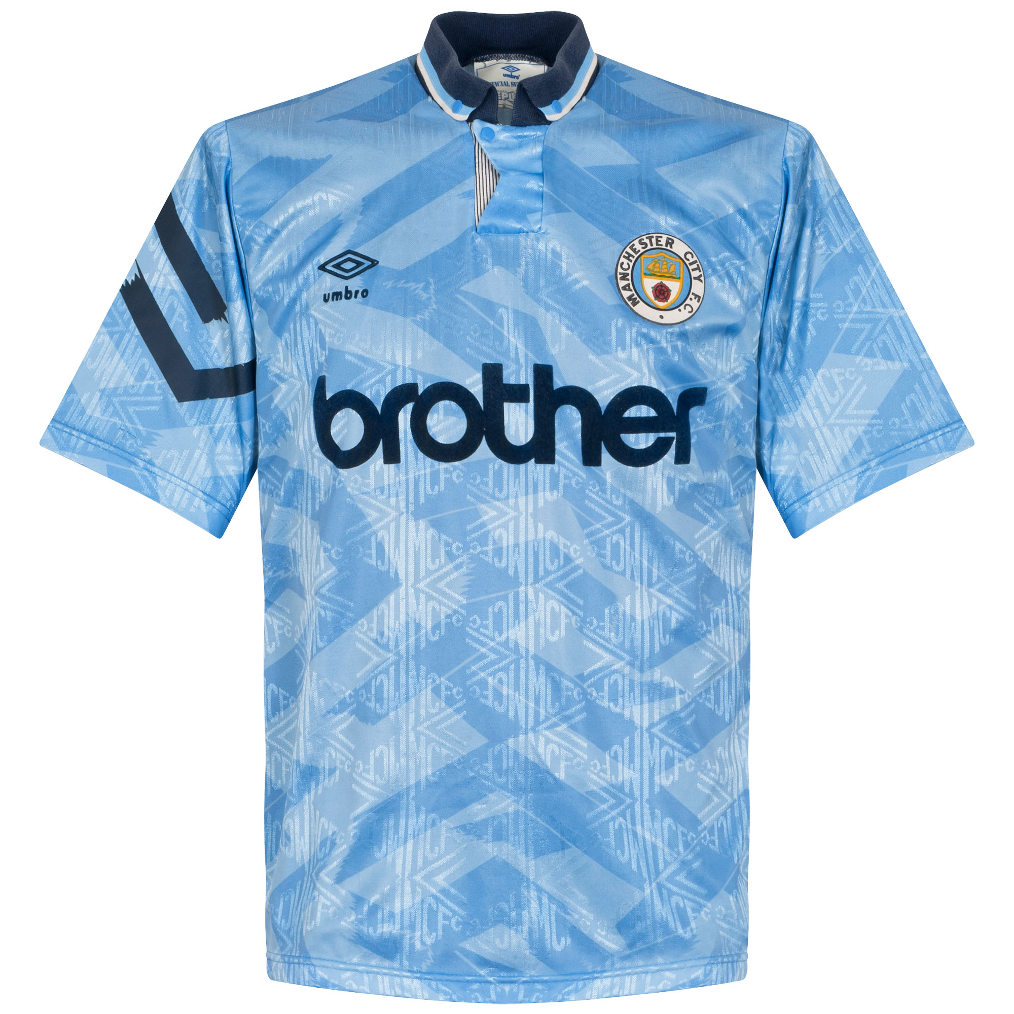 Umbro Manchester City 1991-1992 Home Shirt - USED Condition (Fair) - Size M