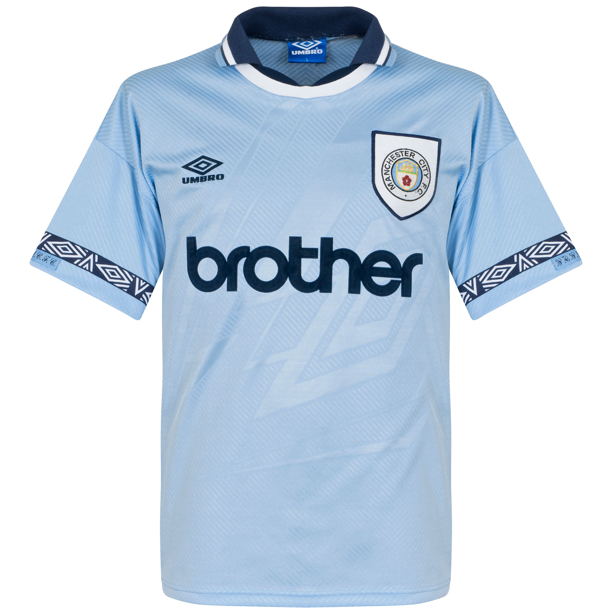 Umbro Manchester City 1993-1995 Home Shirt - USED Condition (Great) - Size Large
