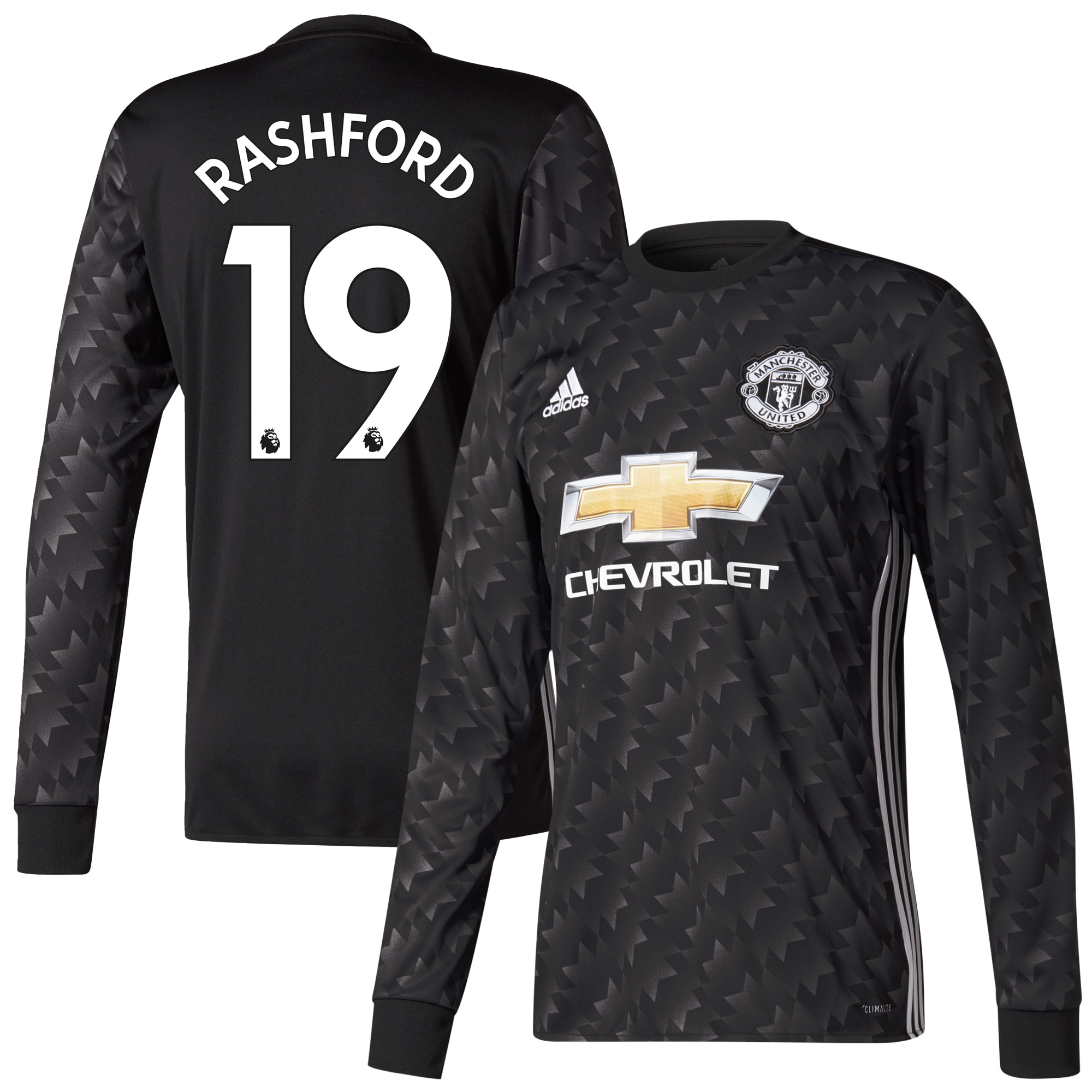Manchester United Away L/S Rashford Jersey 2017 / 2018 (Authentic EPL Printing) - 54