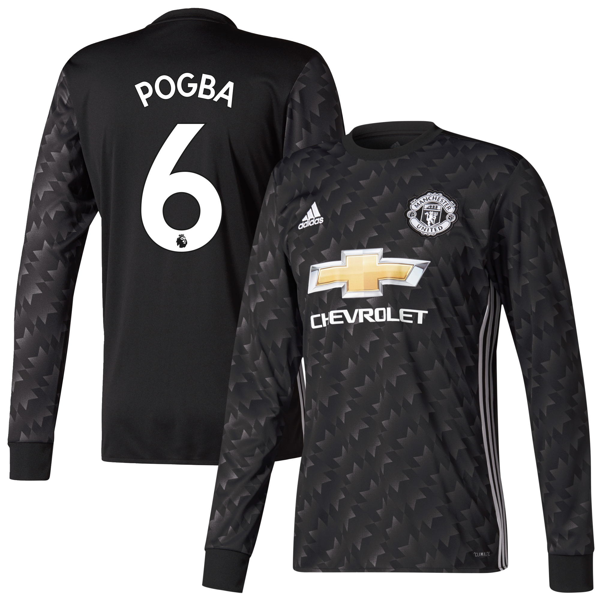 Manchester United Away L/S Pogba Jersey 2017 / 2018 (Authentic EPL Printing) - 66