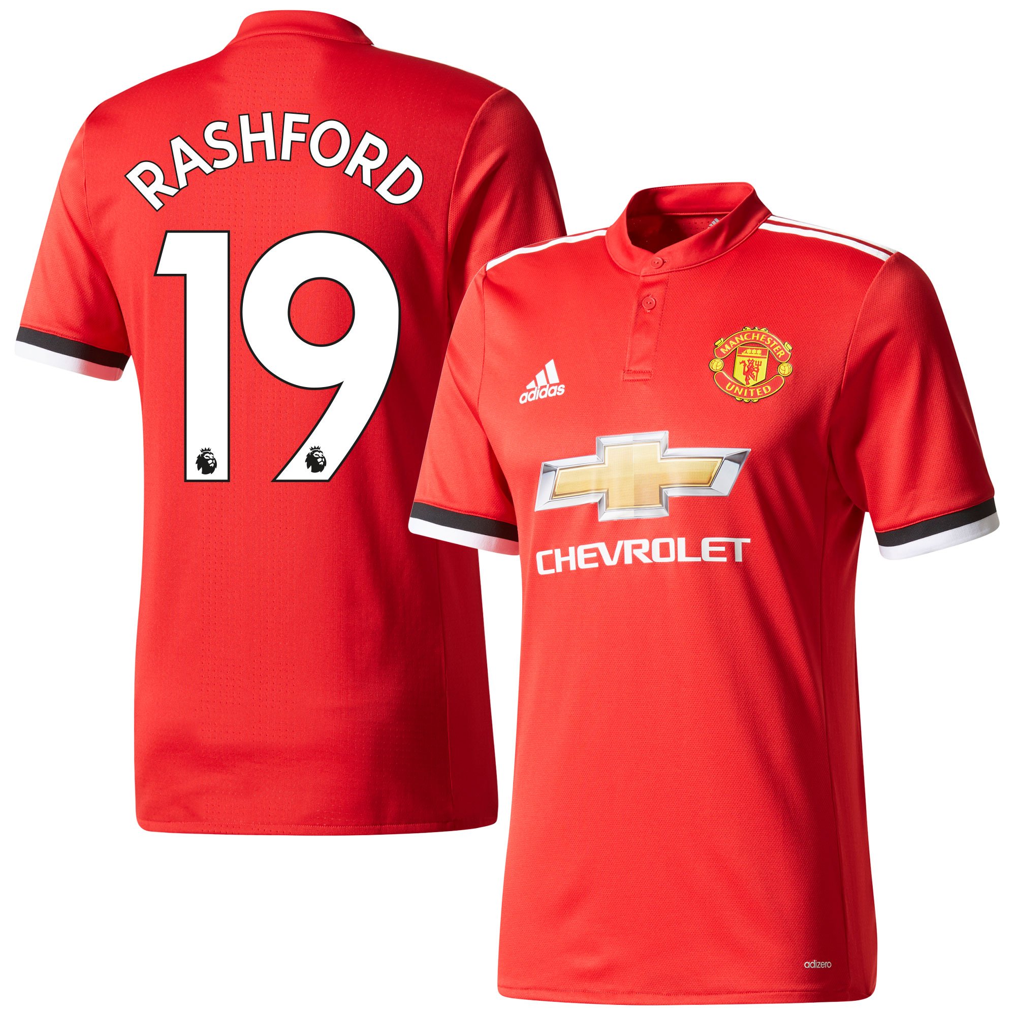 Manchester United Home Authentic Adizero Rashford Jersey 2017 / 2018 (Authentic EPL Printing) - 46