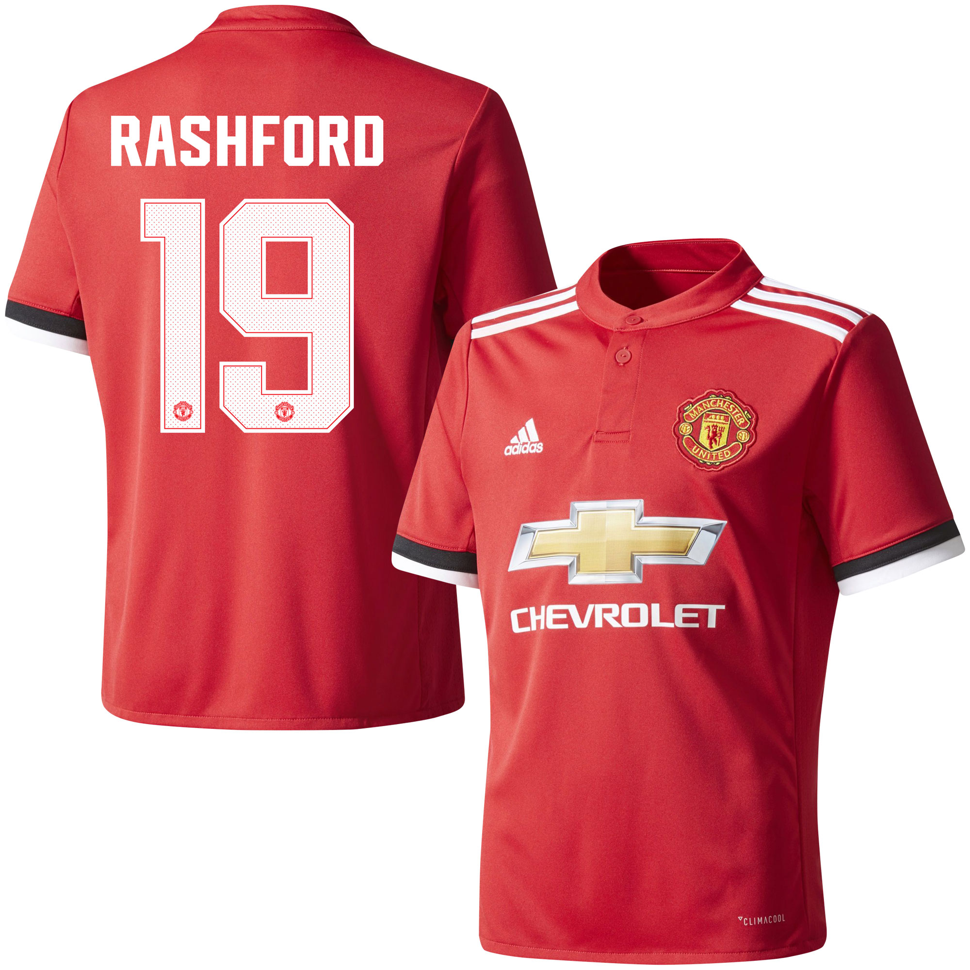 Manchester United Home Rashford Jersey 2017 / 2018 (Official Cup Printing) - 46