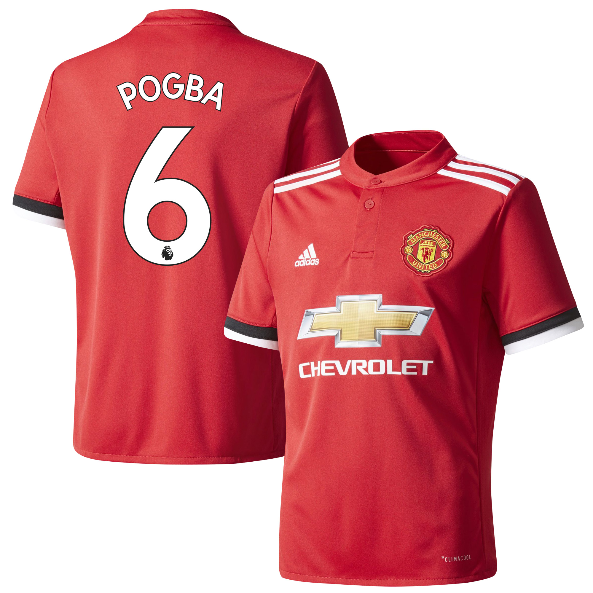 Manchester United Home Pogba Jersey 2017 / 2018 (Authentic EPL Printing) - 42