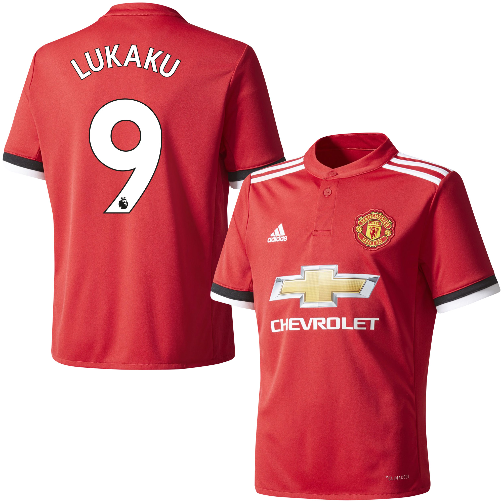 Manchester United Home Lukaku Jersey 2017 / 208 (Authentic EPL Printing) - 46