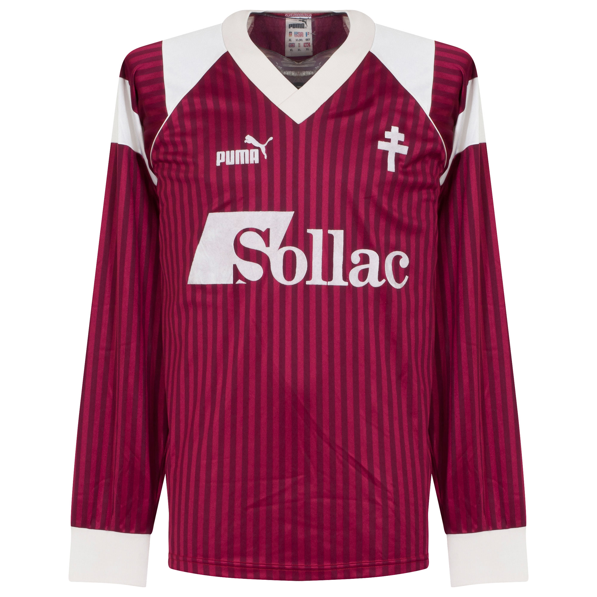 Puma FC Metz 1990-1992 Home Shirt L/S - USED Condition (Great) - Size