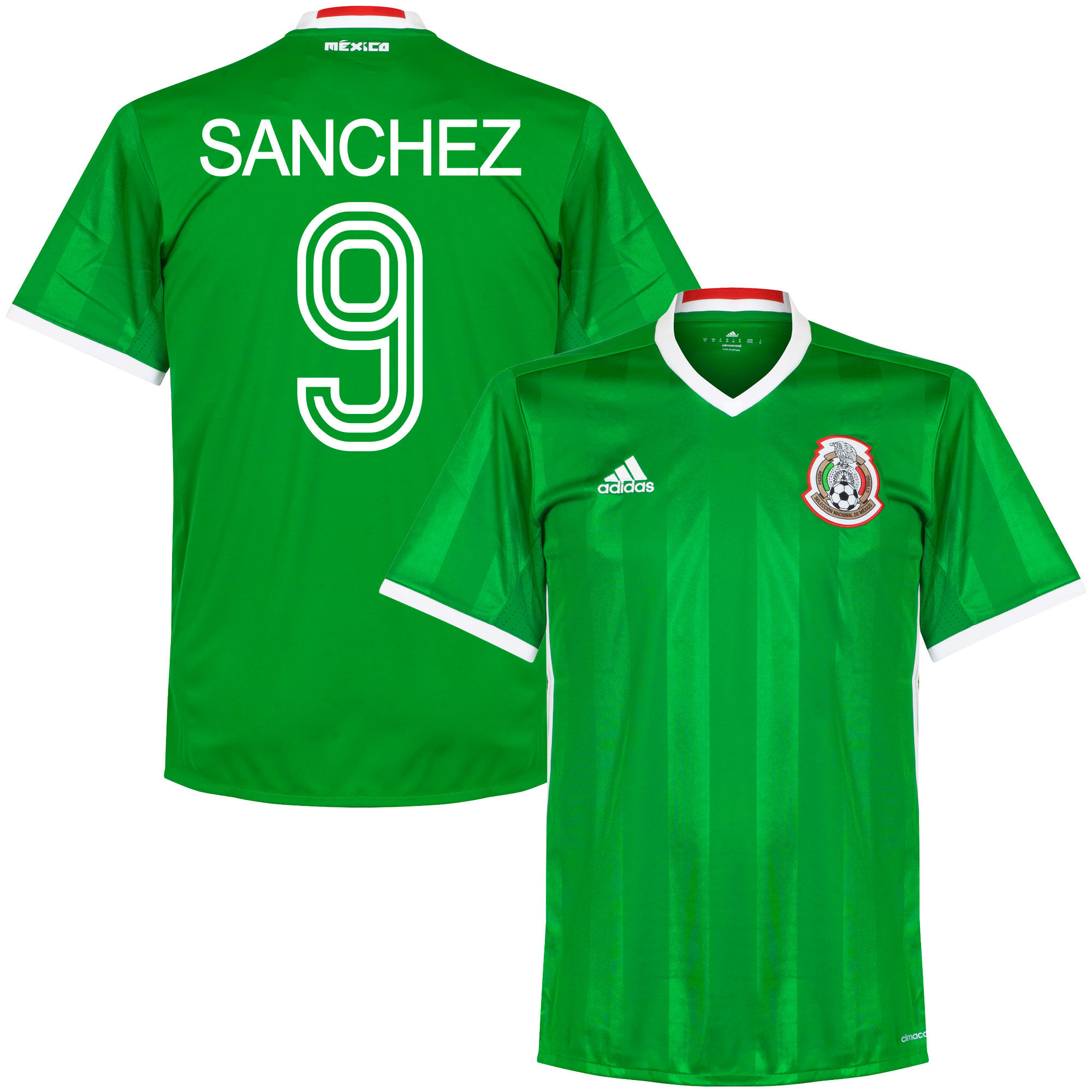 Mexico Home Sanchez Jersey 2016 / 2017 (Retro Style Printing) - 50