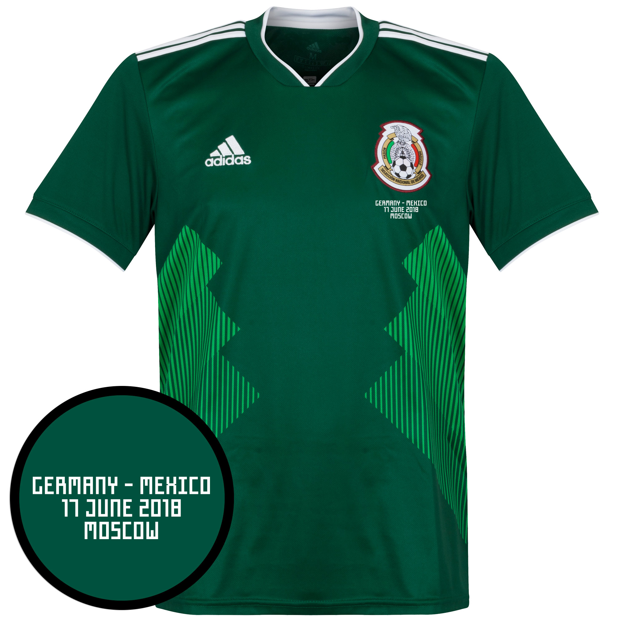 Mexico Home Shirt 2018 2019 inc vs Germany Matchday Transfer
