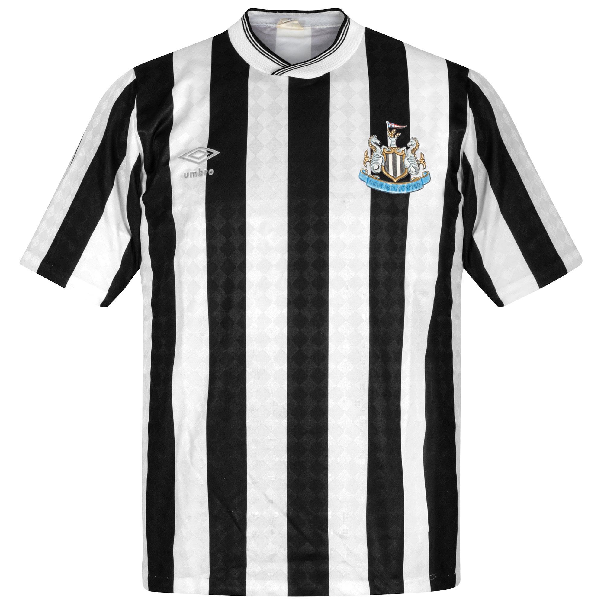 Umbro Newcastle United 1988-1990 Home Shirt- USED Condition (Good) - Size Medium