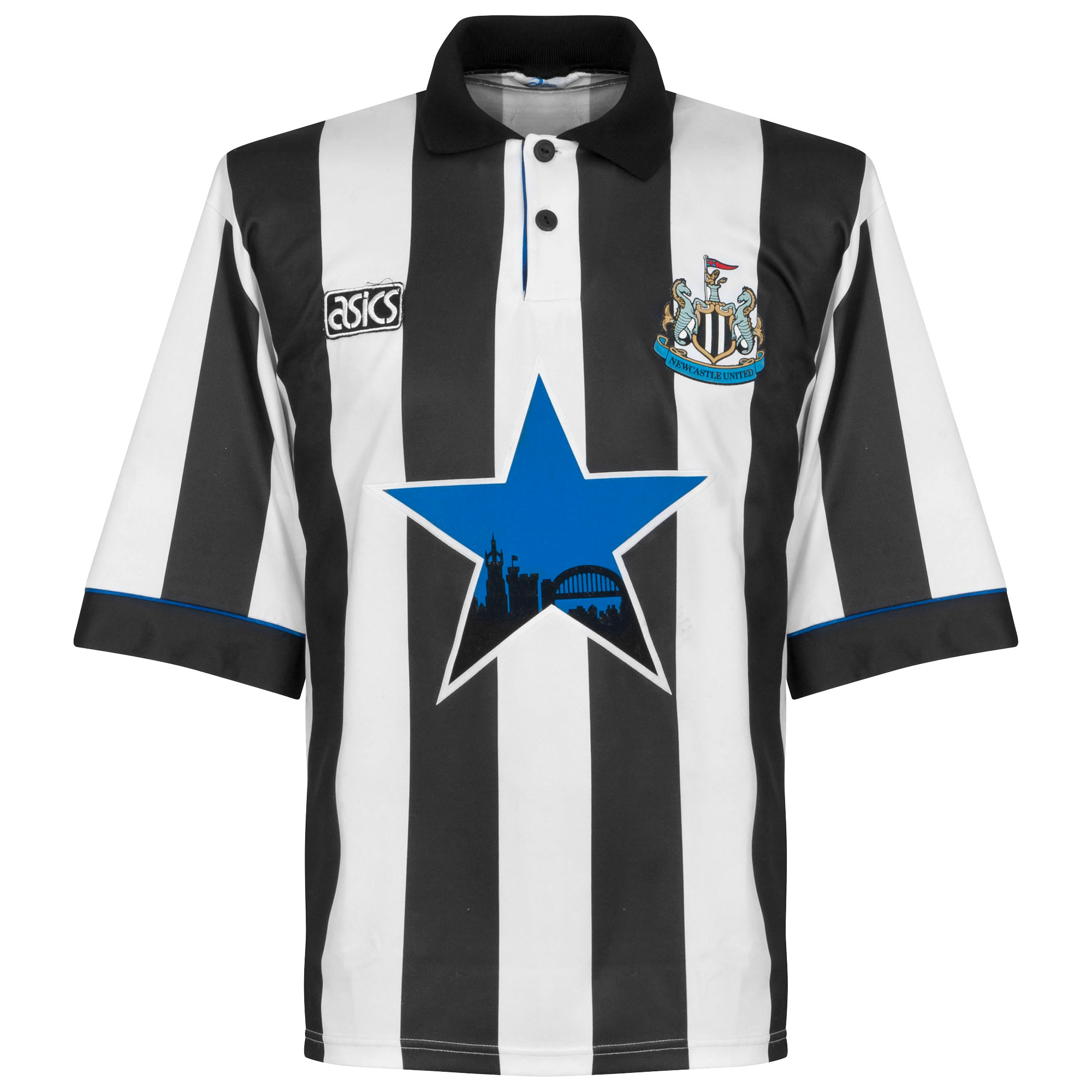 Asics Newcastle United 1993-1995 Home Shirt - USED Condition (Great) - Size