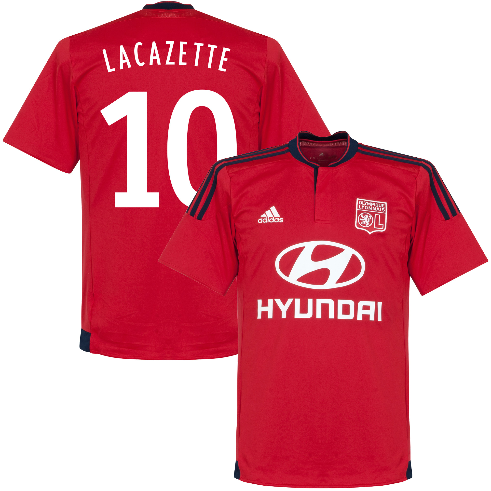 Olympique Lyon Away Lacazette Jersey 2015 / 2016 (Fan Style Printing) - 42