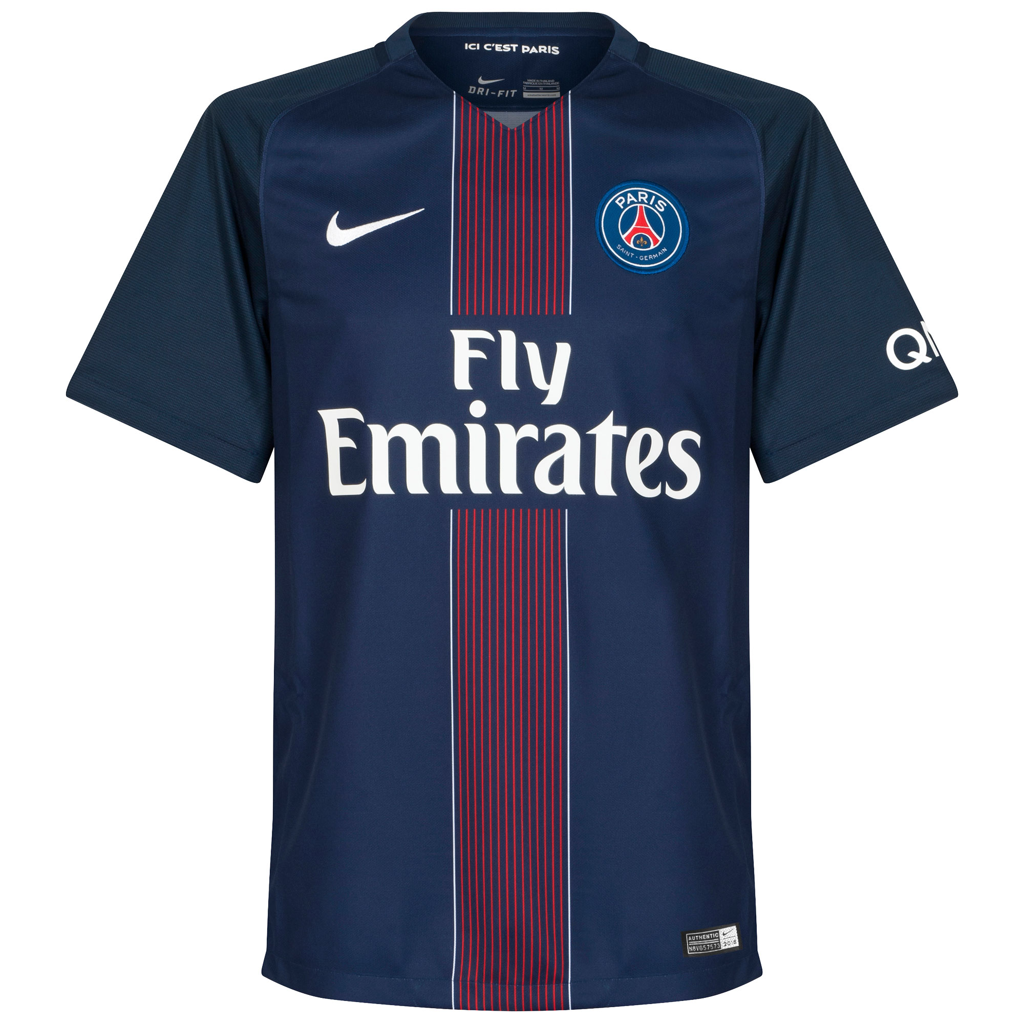 PSG Home Authentic Vapor Match Jersey 2016 / 2017 - M