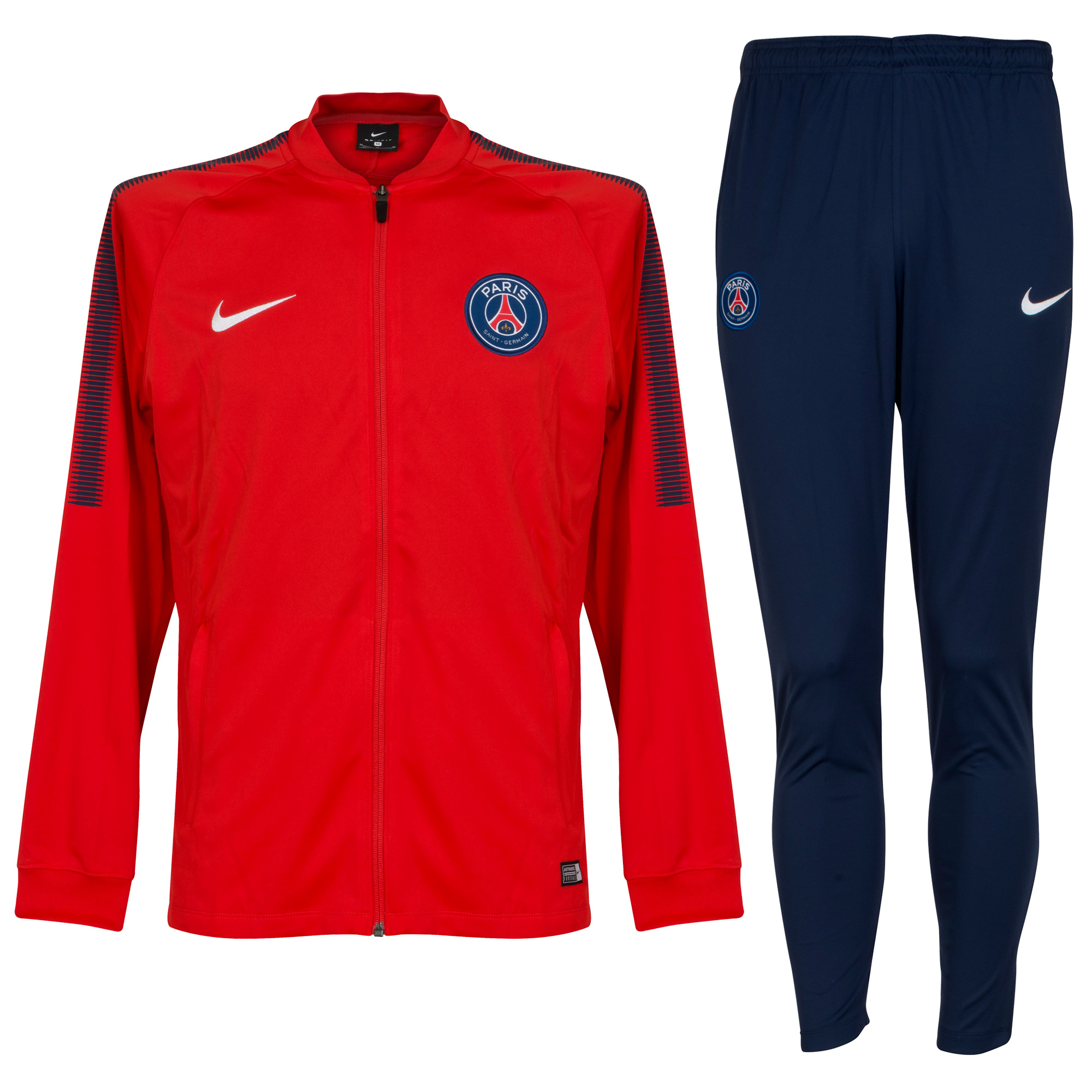 PSG Training Tracksuit 2017 / 2018 - Red/Navy - M