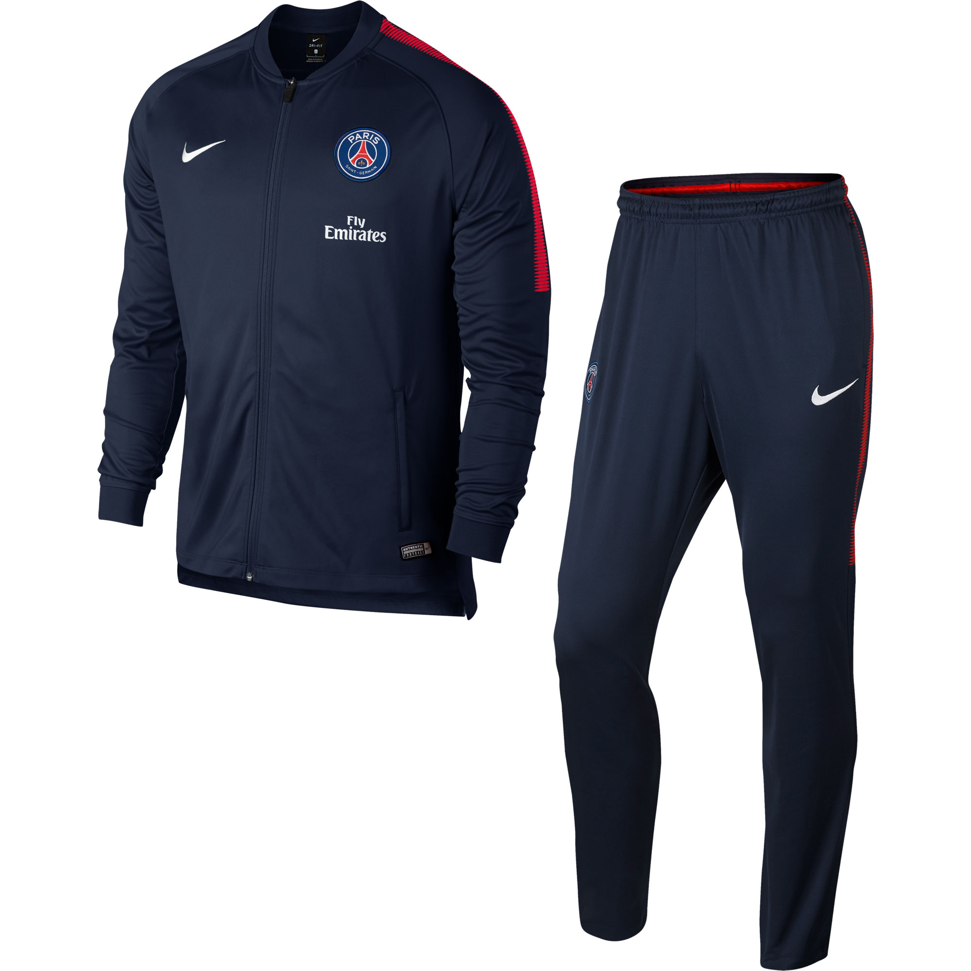 PSG KIDS Training Tracksuit 2017 / 2018 - Navy/Navy - 158-170