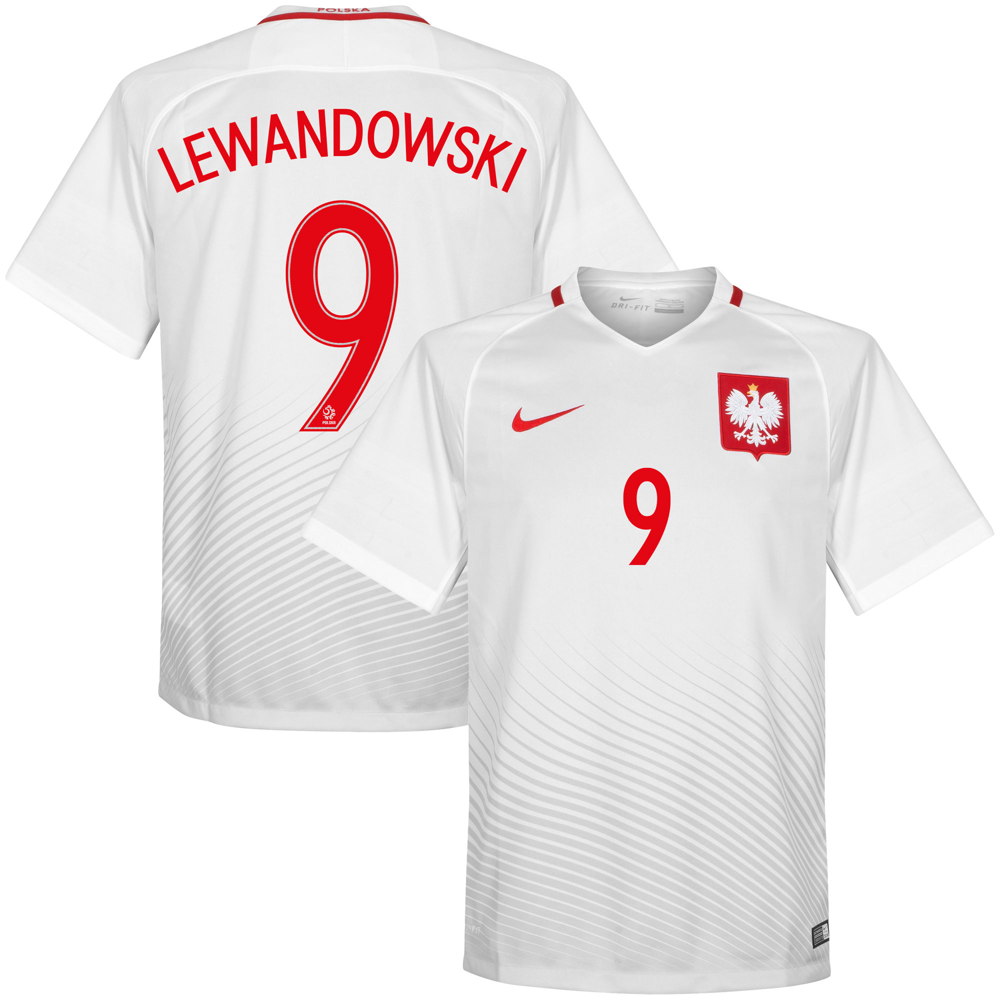 Poland Home Lewandowski Jersey 2016 / 2017 (Official Printing) - XXL