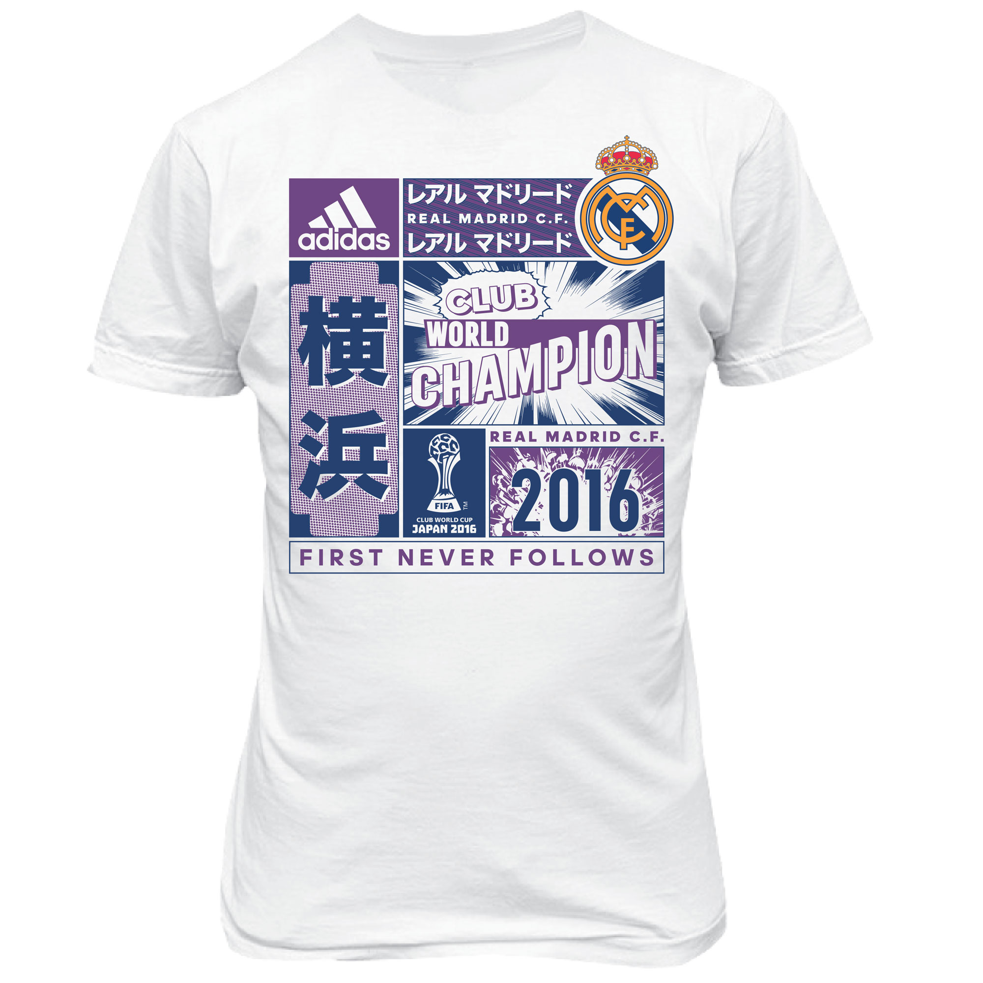 new concept ee85e b6692 adidas Real Madrid Fifa Club World Cup Champions 2016 T-Shirt - White -  Kids, White