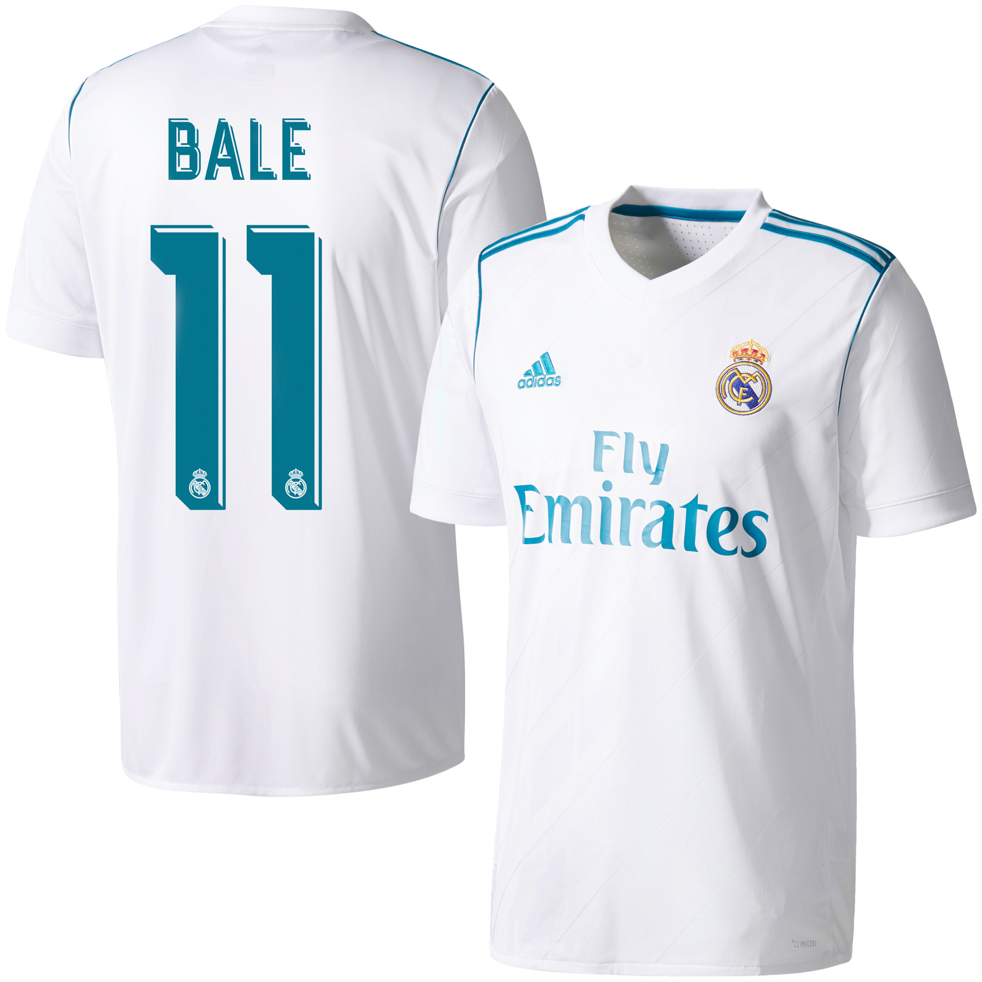Real Madrid Home Bale Jersey 2017 / 2018 (Official Printing) - 42