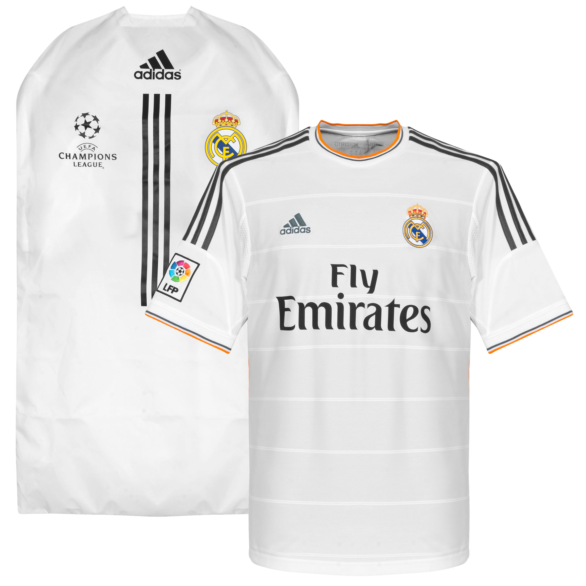 adidas Real Madrid Home Shirt 2013-2014 (including Shirt Cover)