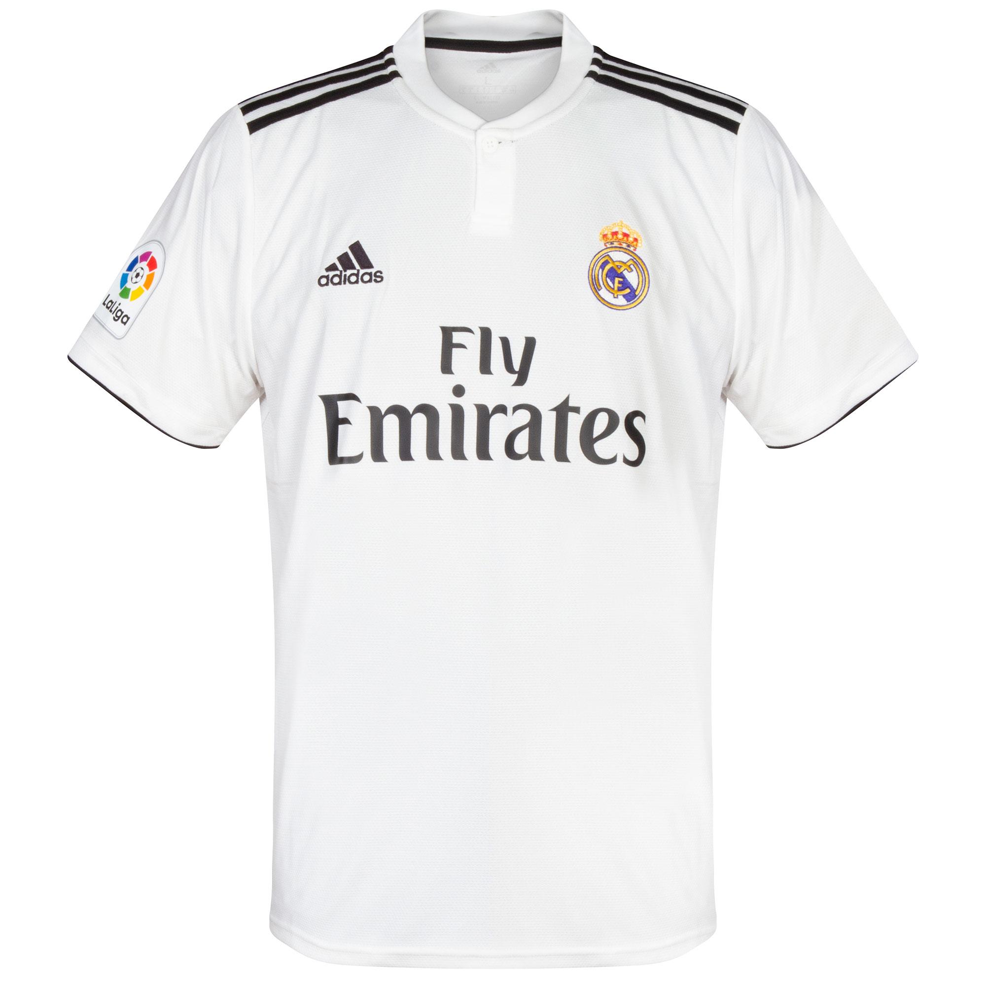 adidas Real Madrid Home Shirt (LFP Patch) 2018-2019
