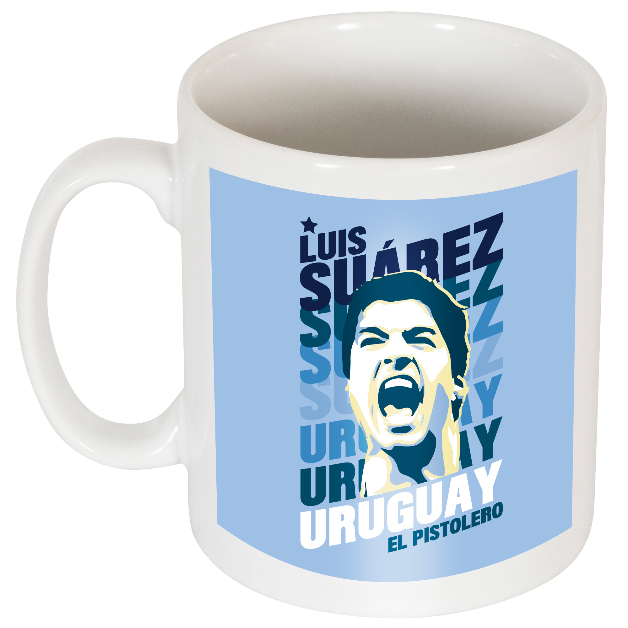 Suarez Uruguay Portrait Mok