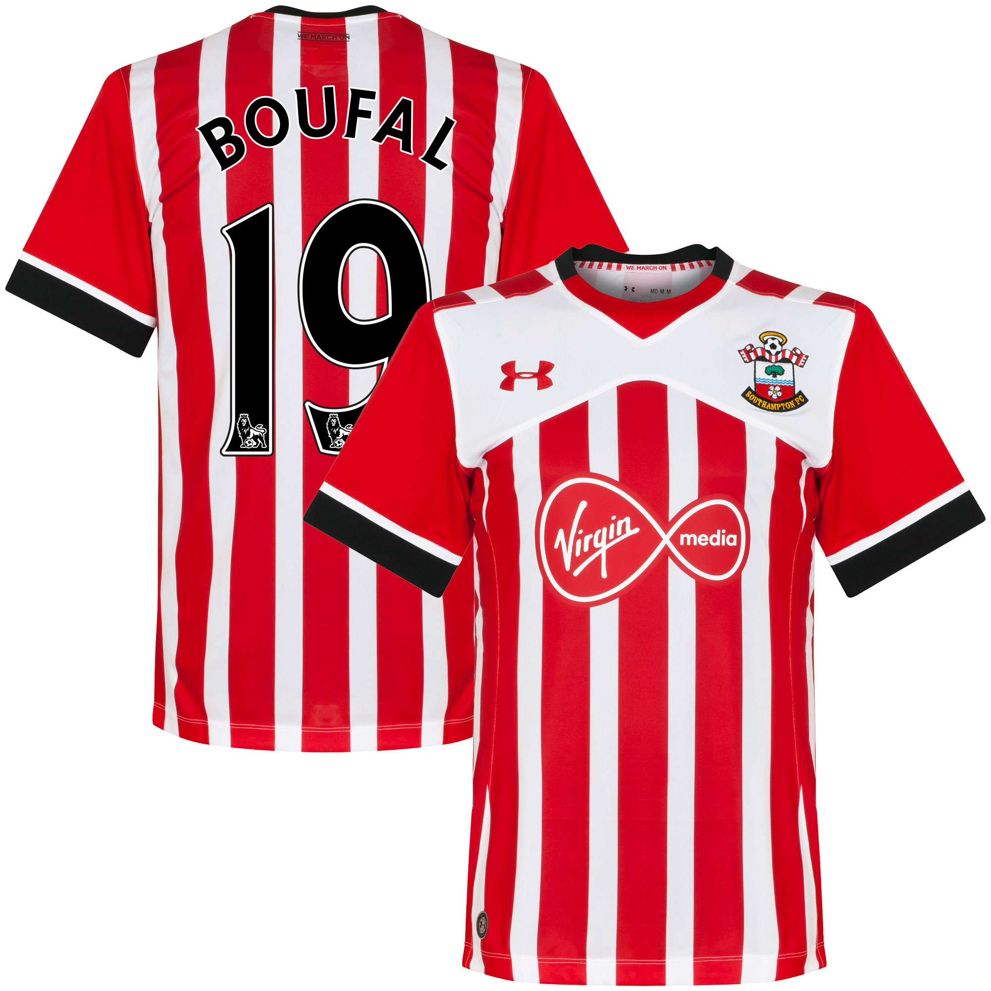 Southampton Home Boufal Jersey 2016 / 2017 (PS-Pro Player Printing) - M