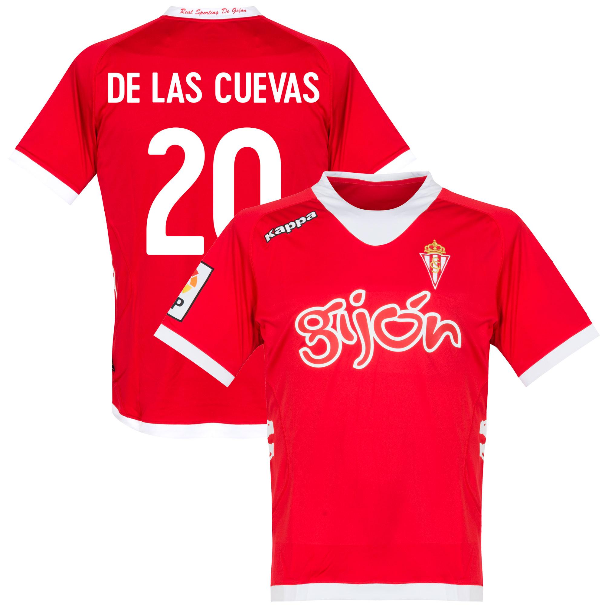 Sporting Gijon Away De Las Cuevas 20 Shirt 2012 2013 (Fan Style Pritning) - S