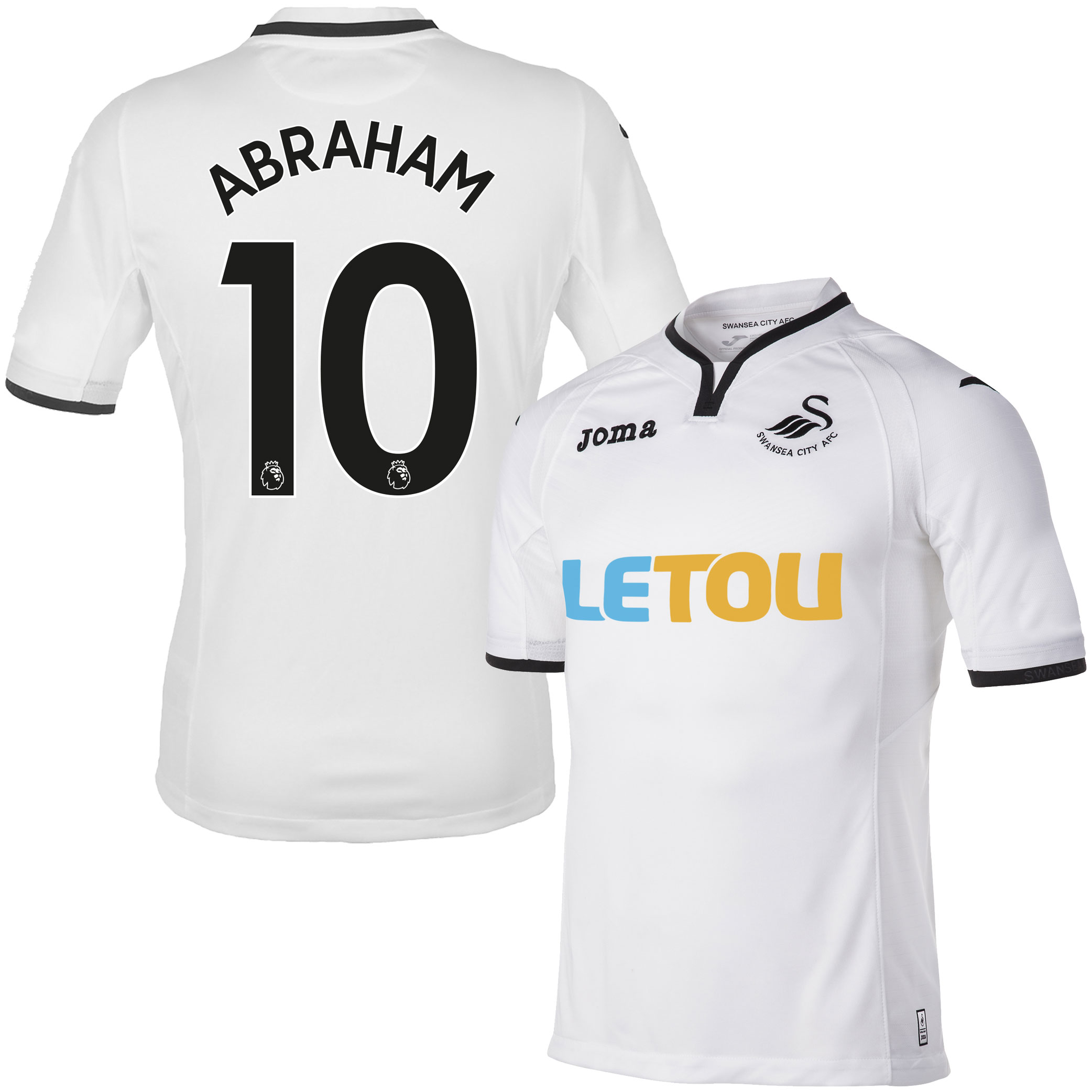 Swansea City Home Abraham Jersey 2017 / 2017 (Authentic EPL Printing) - S