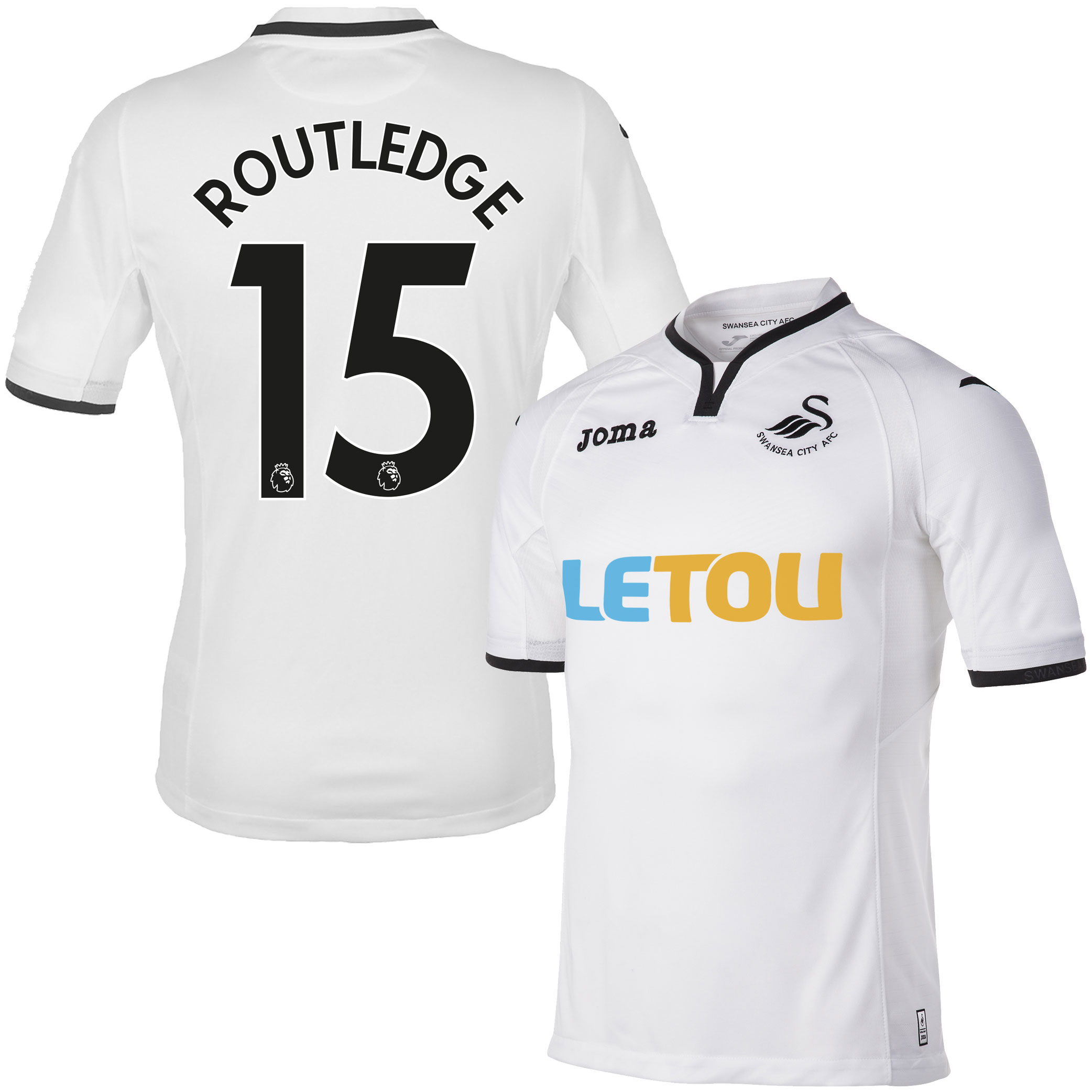 Swansea City Home Routledge Jersey 2017 / 2018 (Authentic EPL Printing) - XXL
