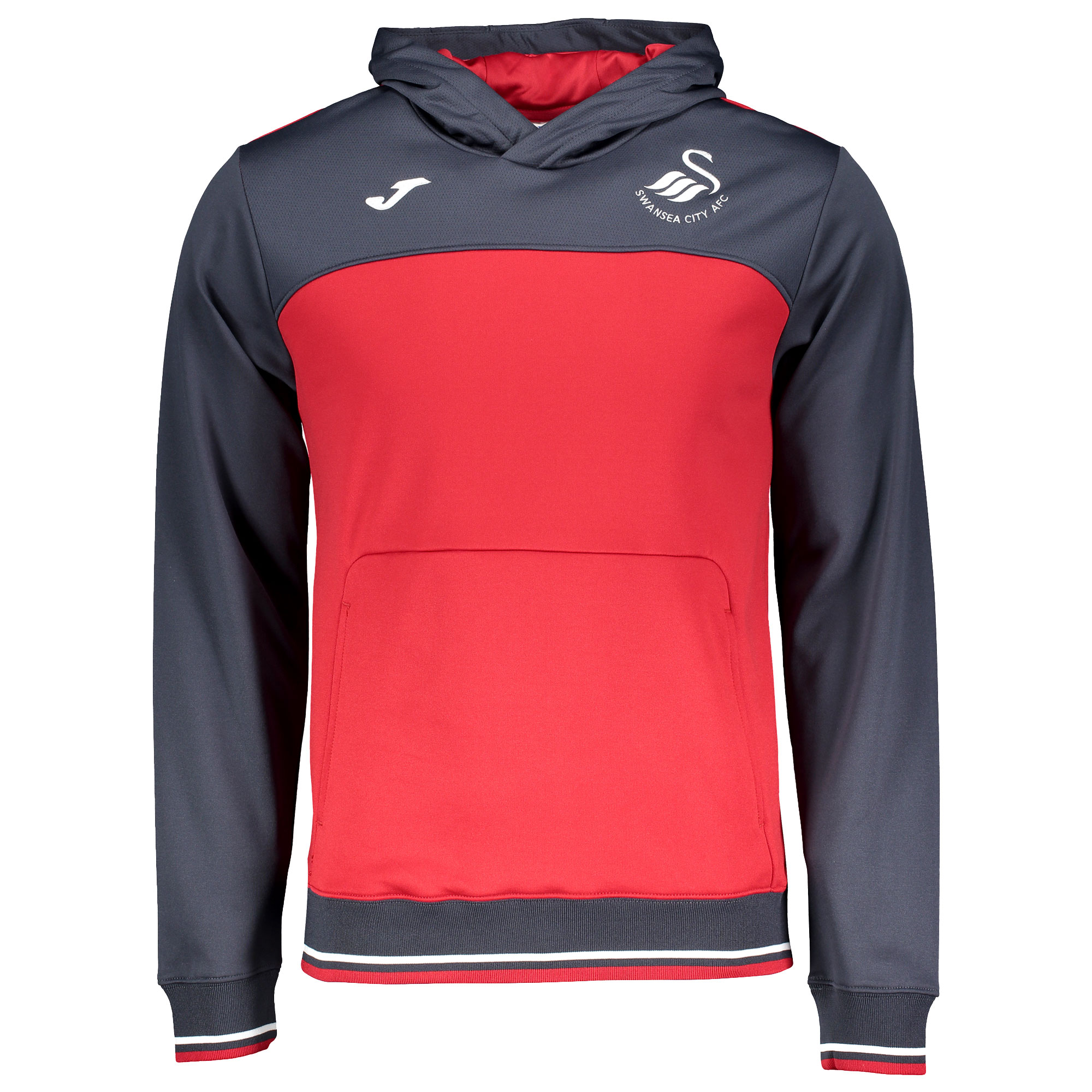 Swansea City Training Hoodie 2017 / 2018 - Red/Grey - M