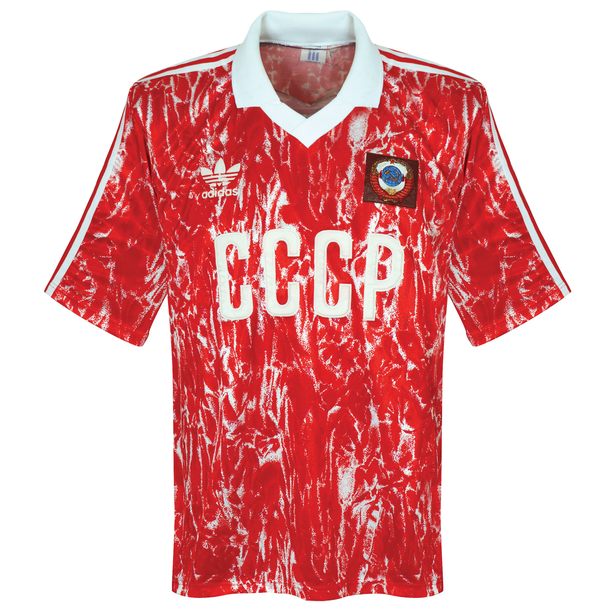 adidas CCCP 1990-1992 Home Shirt - USED Condition (Poor) - size Medium