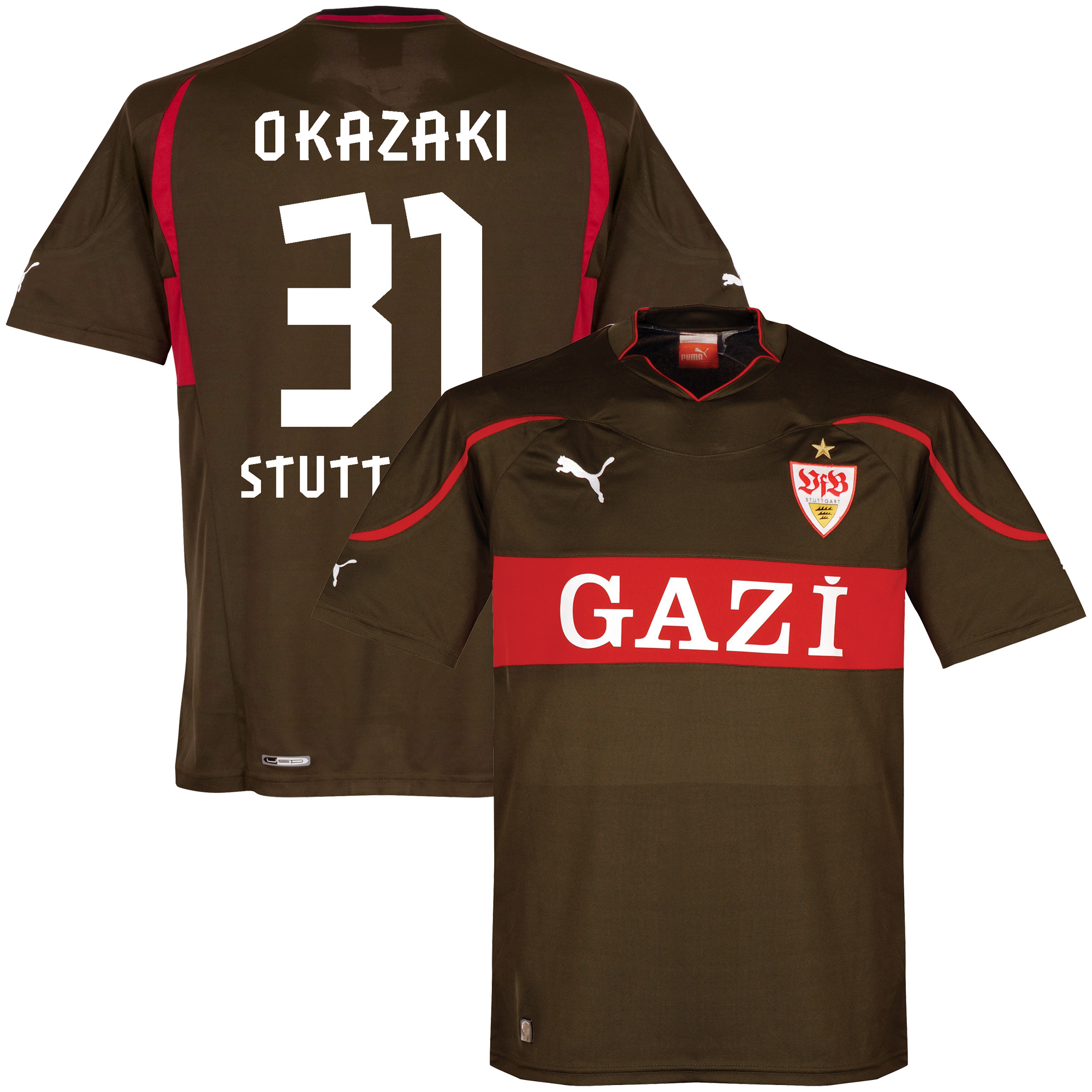 10-11 VfB Stuttgart 3rd Okazaki Jersey (Fan Style Printing) - XXL