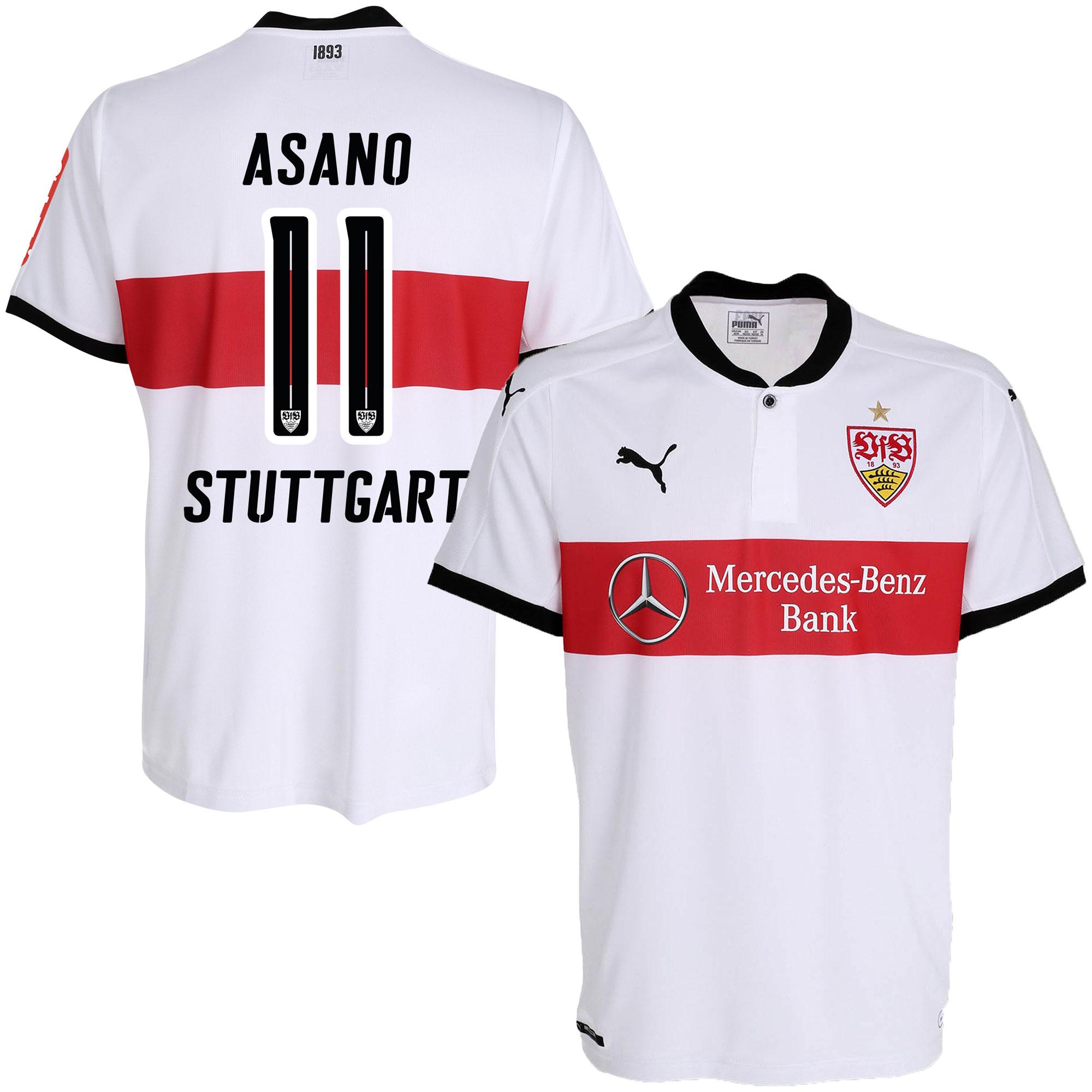 VfB Stuttgart Home Asano Jersey 2017 / 2018 (Official Printing) - M