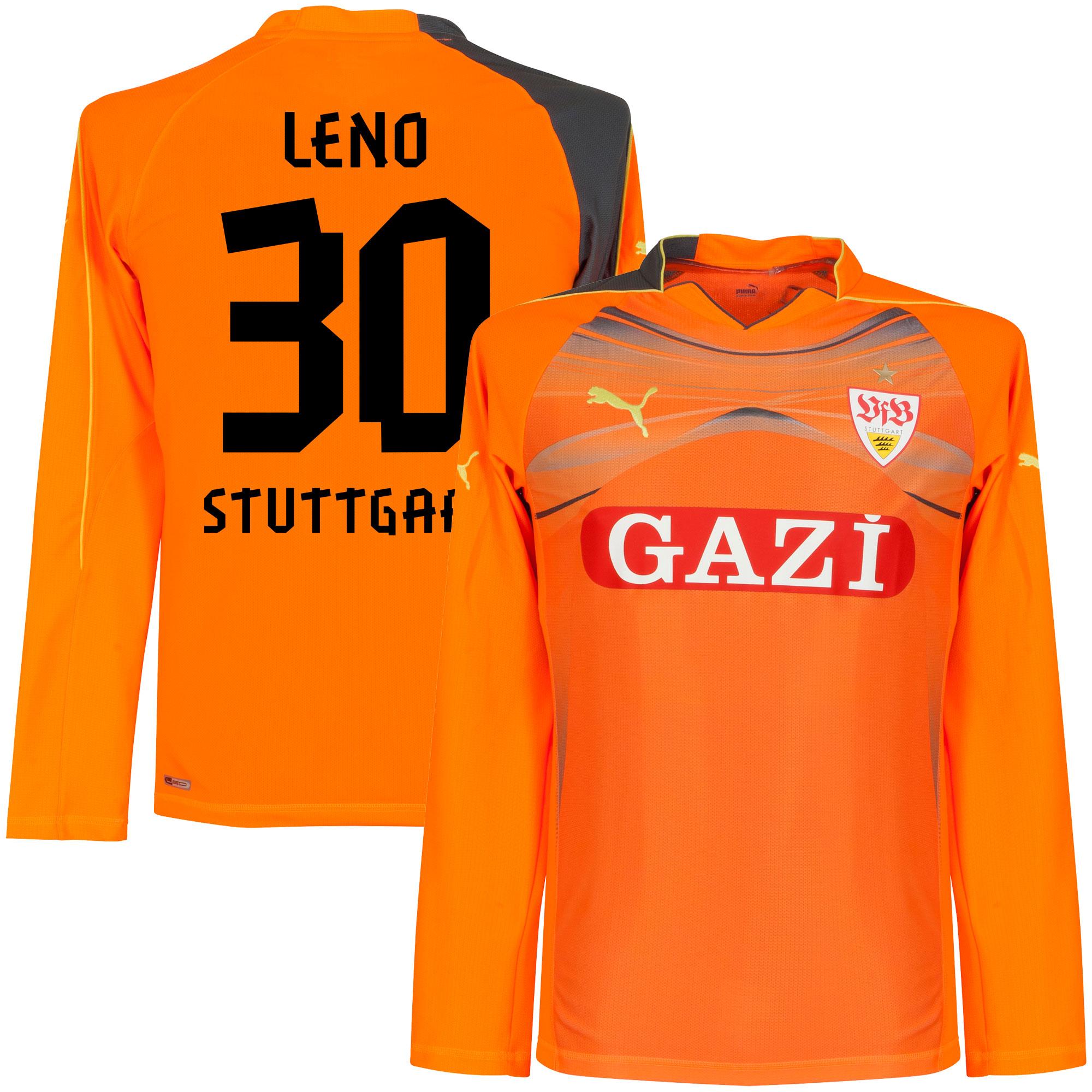11-12 VfB Stuttgart GK Jersey + Leno 30 (Fan Style Printing) - XXL