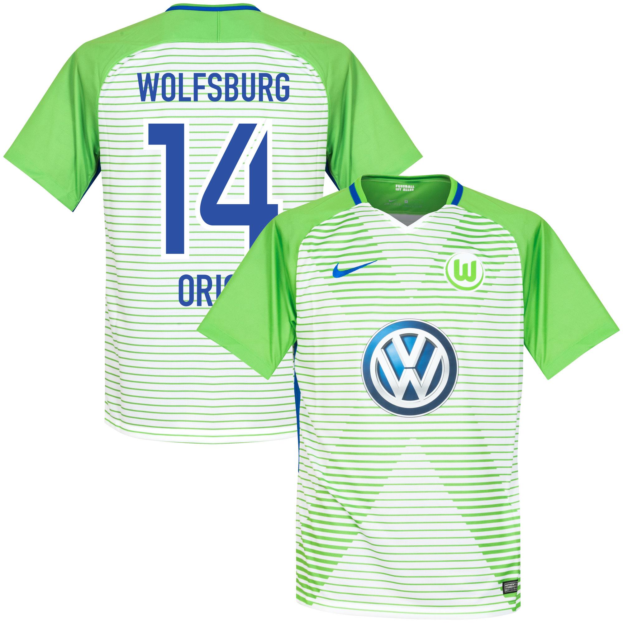 VfL Wolfsburg Home Origi Jersey 2017 / 2018 (Fan Style Printing) - XXL