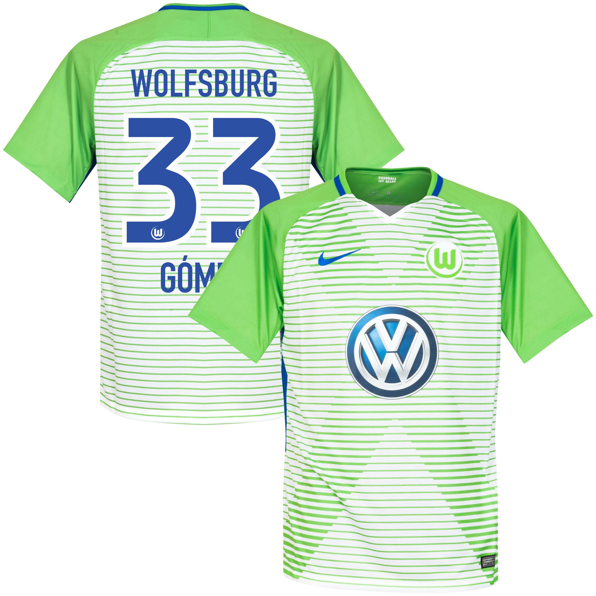VfL Wolfsburg Home Gomez Jersey 2017 / 2017 (Official Printing) - XXL