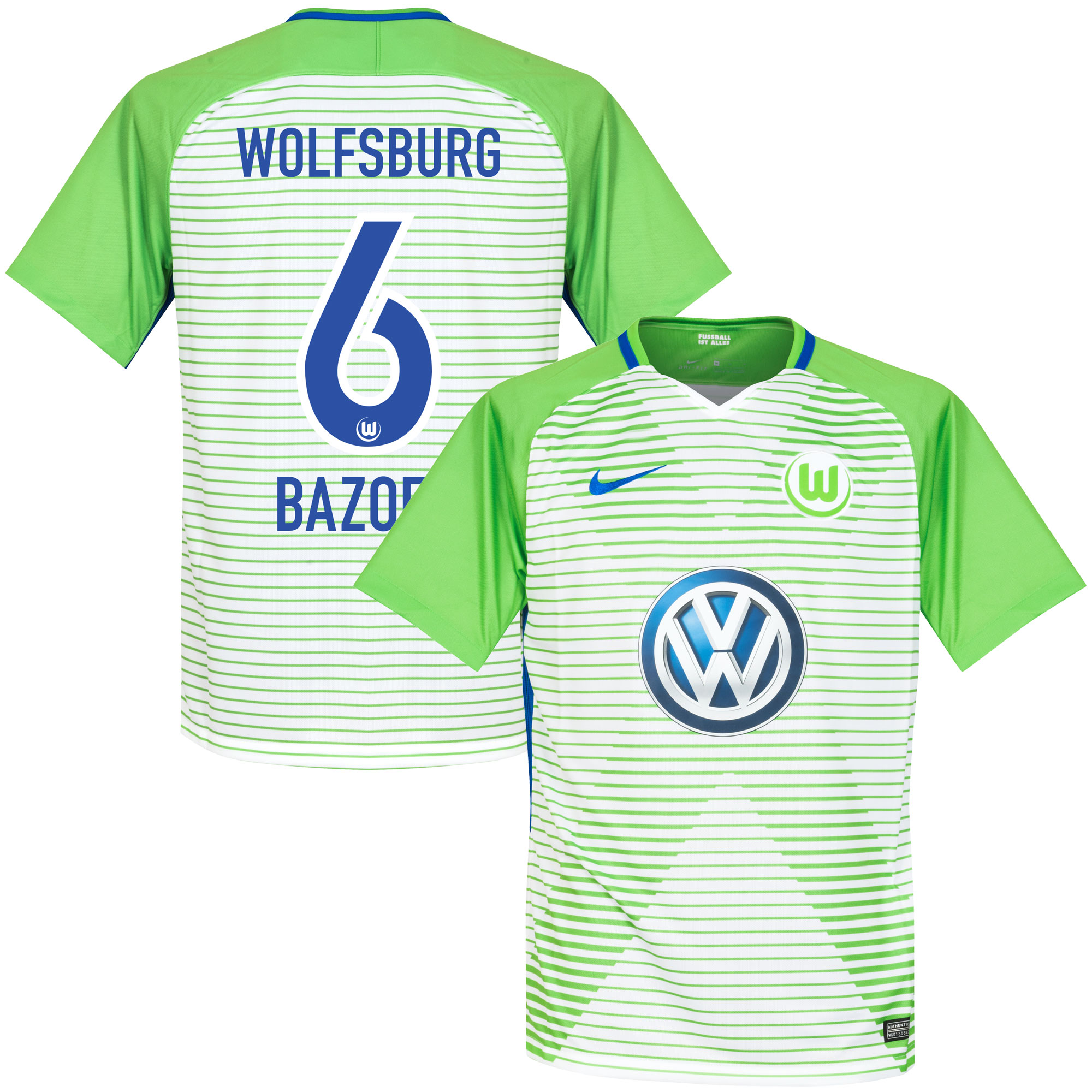 VfL Wolfsburg Home Bazoer Jersey 2017 / 2019 (Official Printing) - M