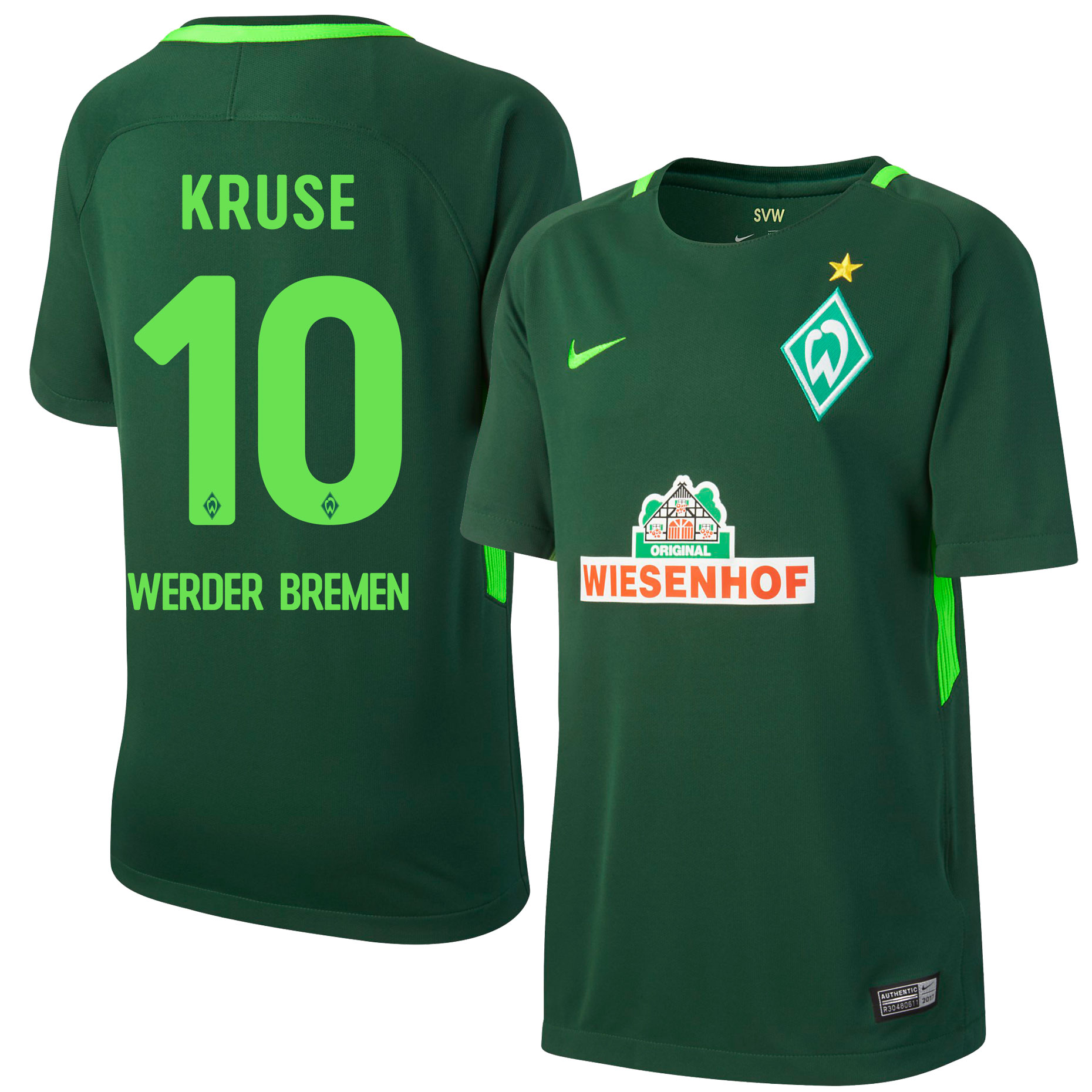 Werder Bremen Home Kruse Jersey 2017 / 2017 (Official Printing) - L