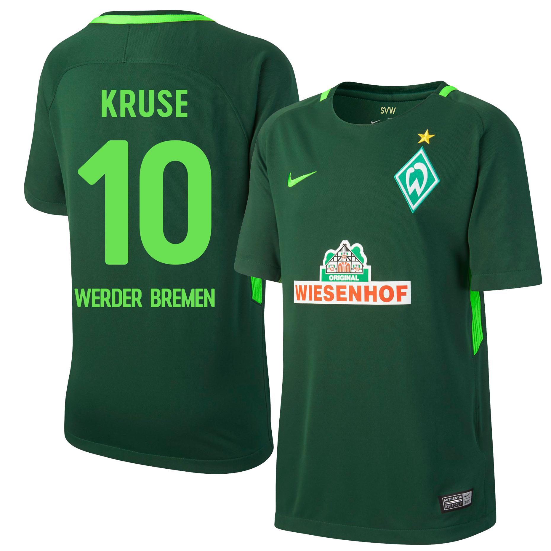 Werder Bremen Home Kruse Jersey 2017 / 2018 (Fan Style Printing) - M