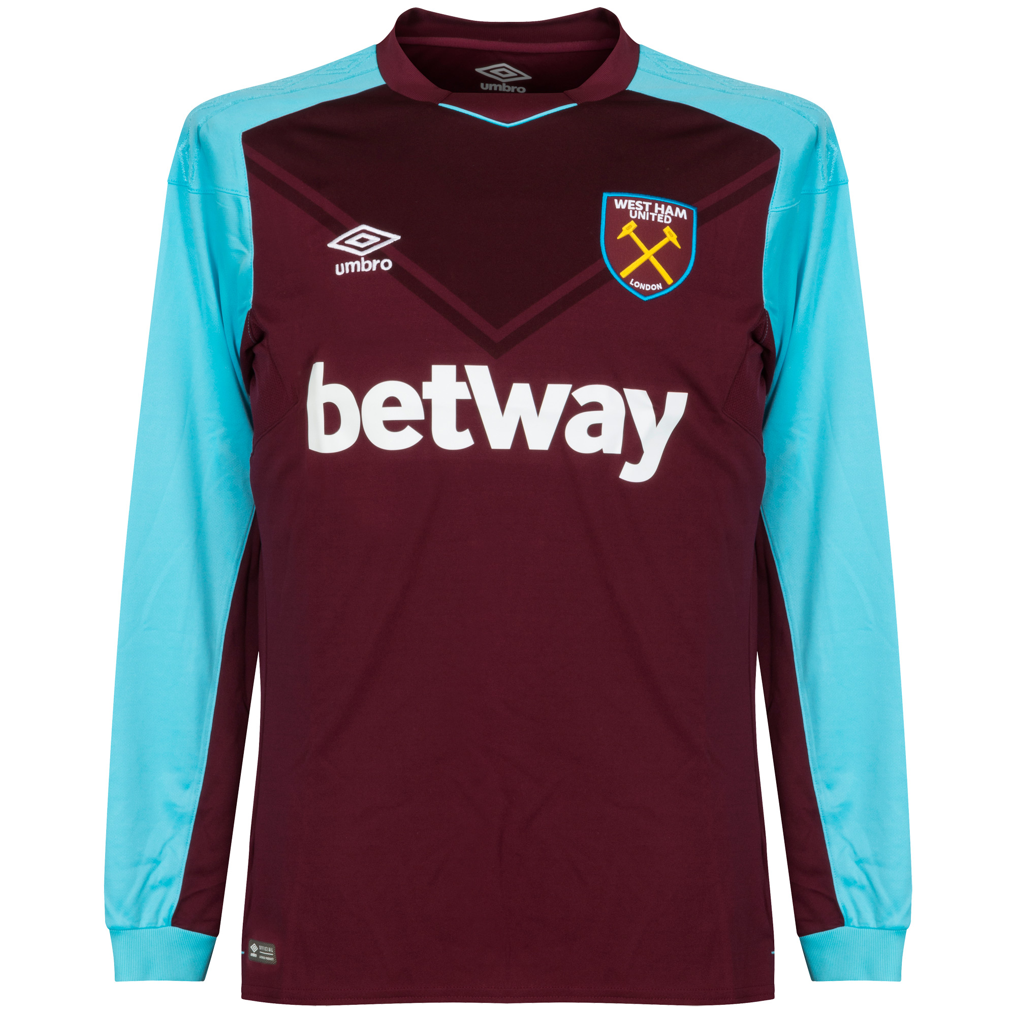 timeless design 21236 57aa7 West Ham United Home long sleeve Shirt 2017 2018 - M - New ...